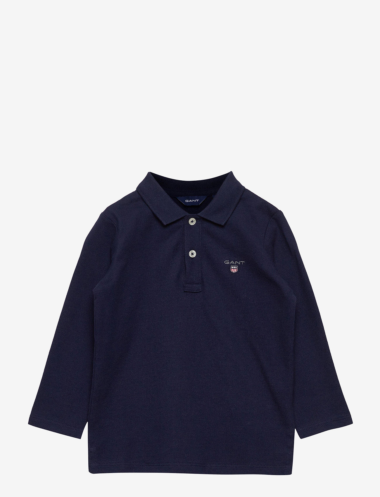 GANT - THE ORIGINAL PIQUE LS RUGGER - polo shirts - evening blue - 0