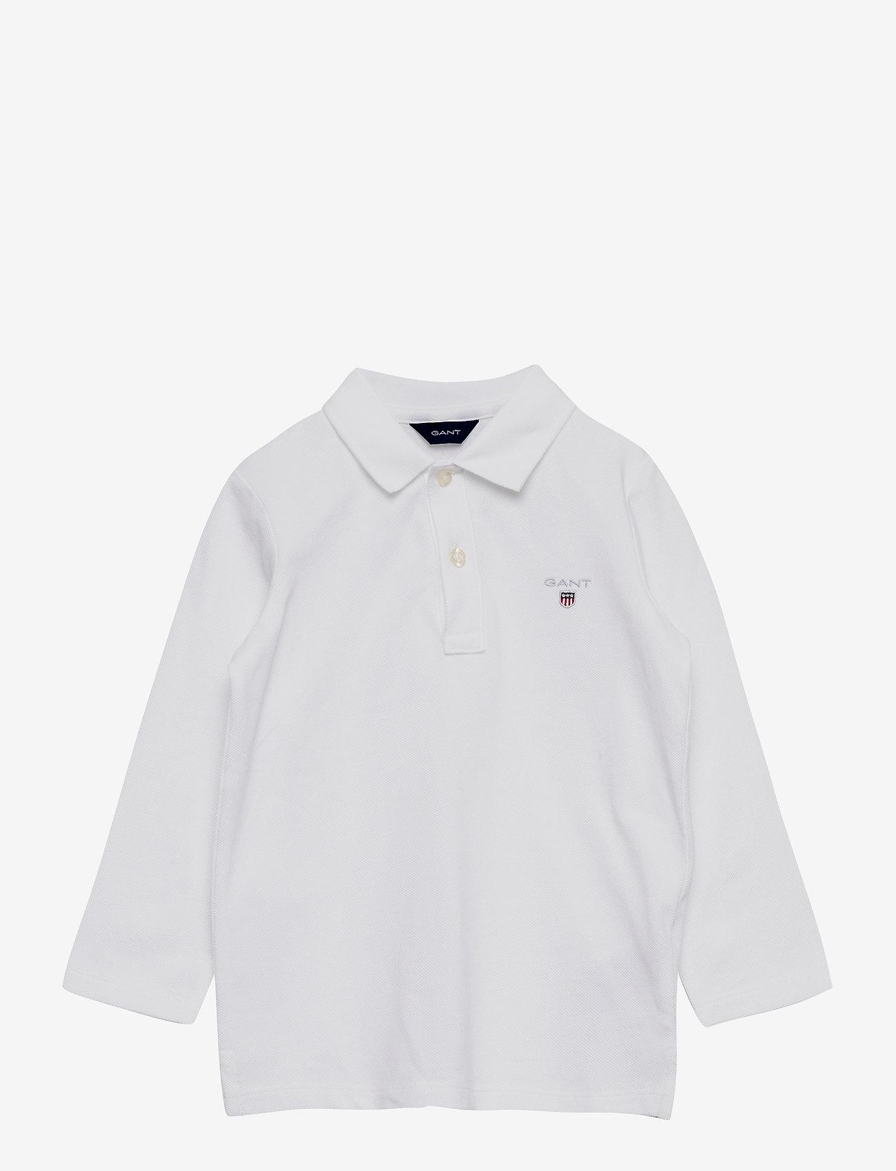 GANT - THE ORIGINAL PIQUE LS RUGGER - polo shirts - white - 0