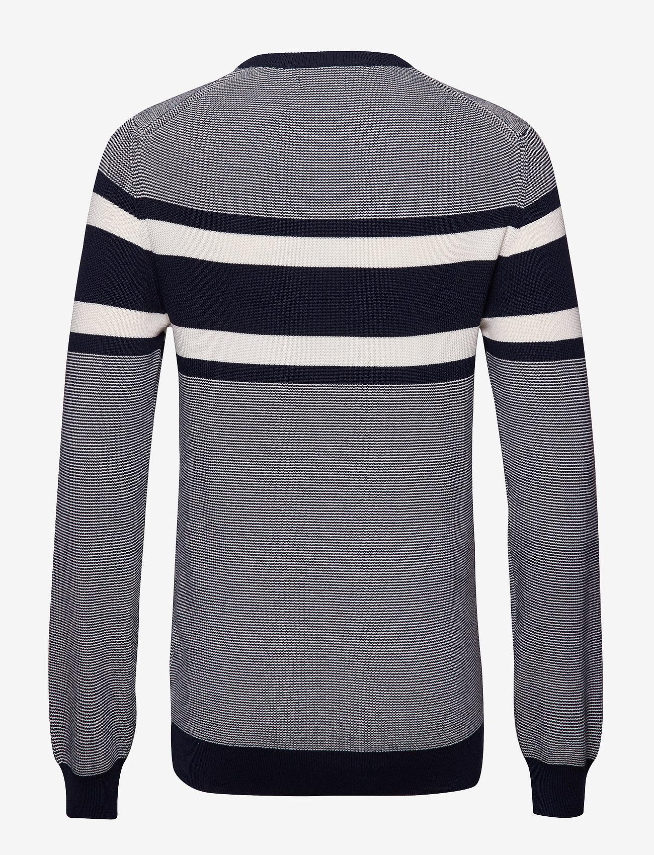 Gant - O1. BRETON STRIPE CREW - knitted round necks - marine
