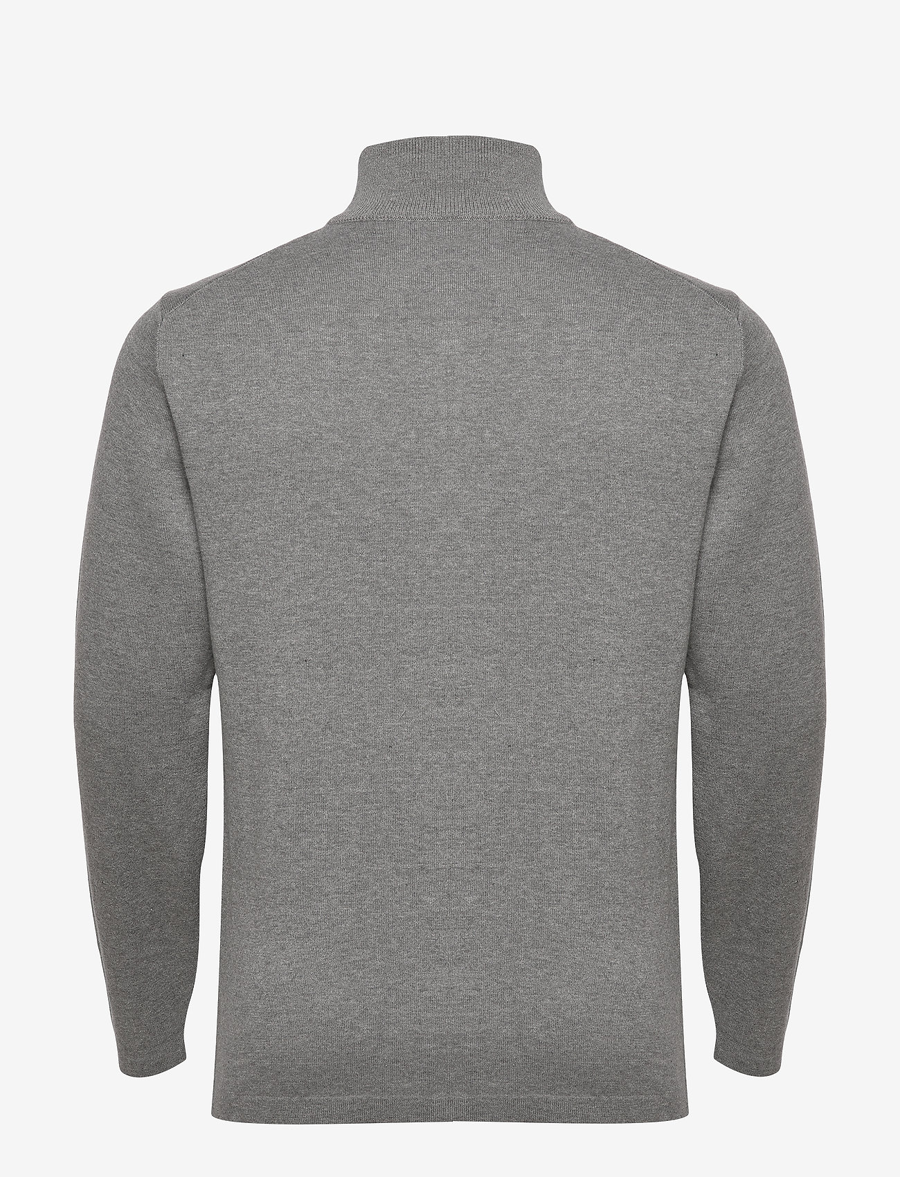 GANT D1. DOUBLE FACED FULL ZIP CARDIGAN - Strikkevarer GREY MELANGE - Menn Klær