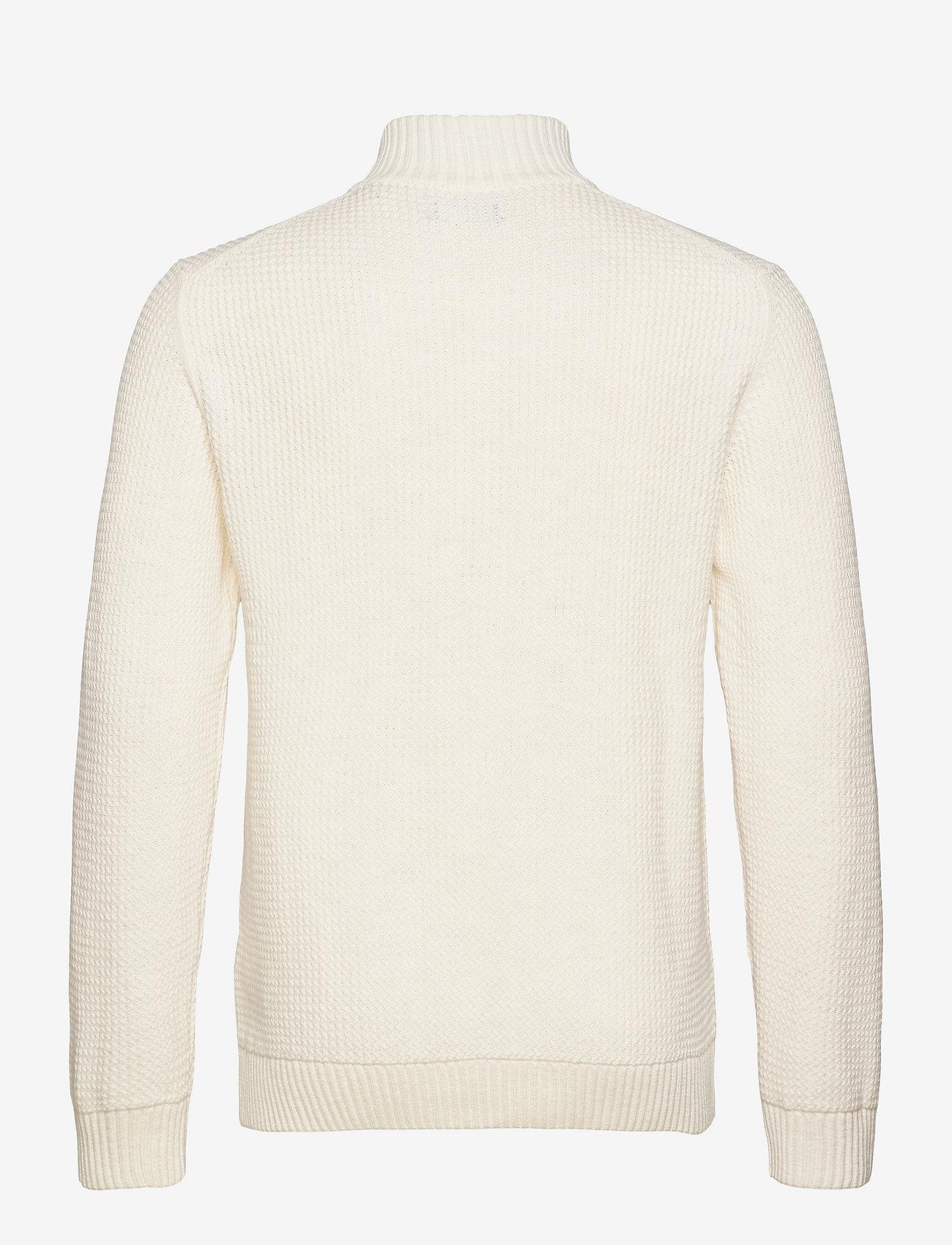 GANT - D2. COTTON STRUCTURE FULL ZIP - basic knitwear - eggshell - 1
