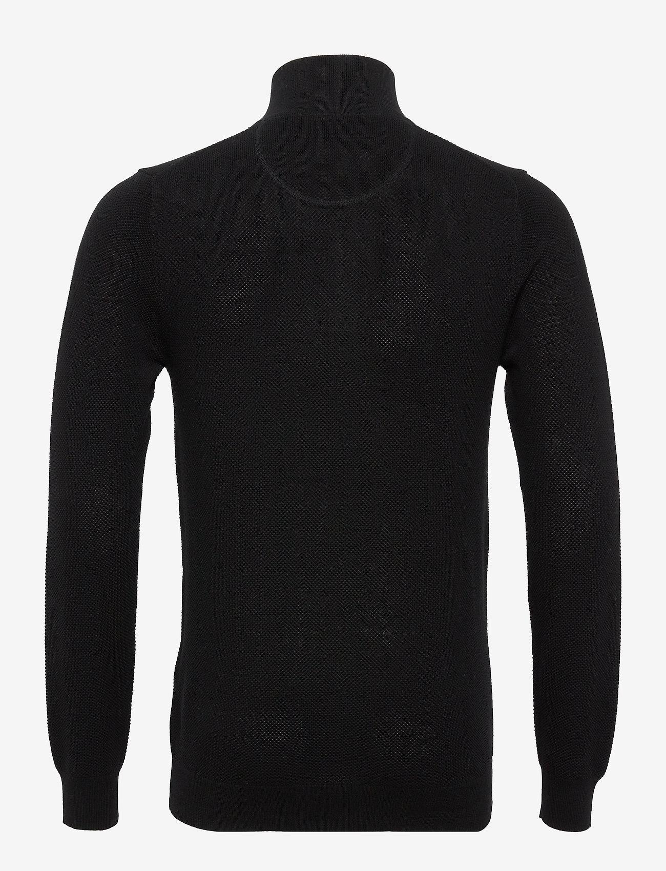 GANT - COTTON PIQUE HALF ZIP - half zip - black - 1