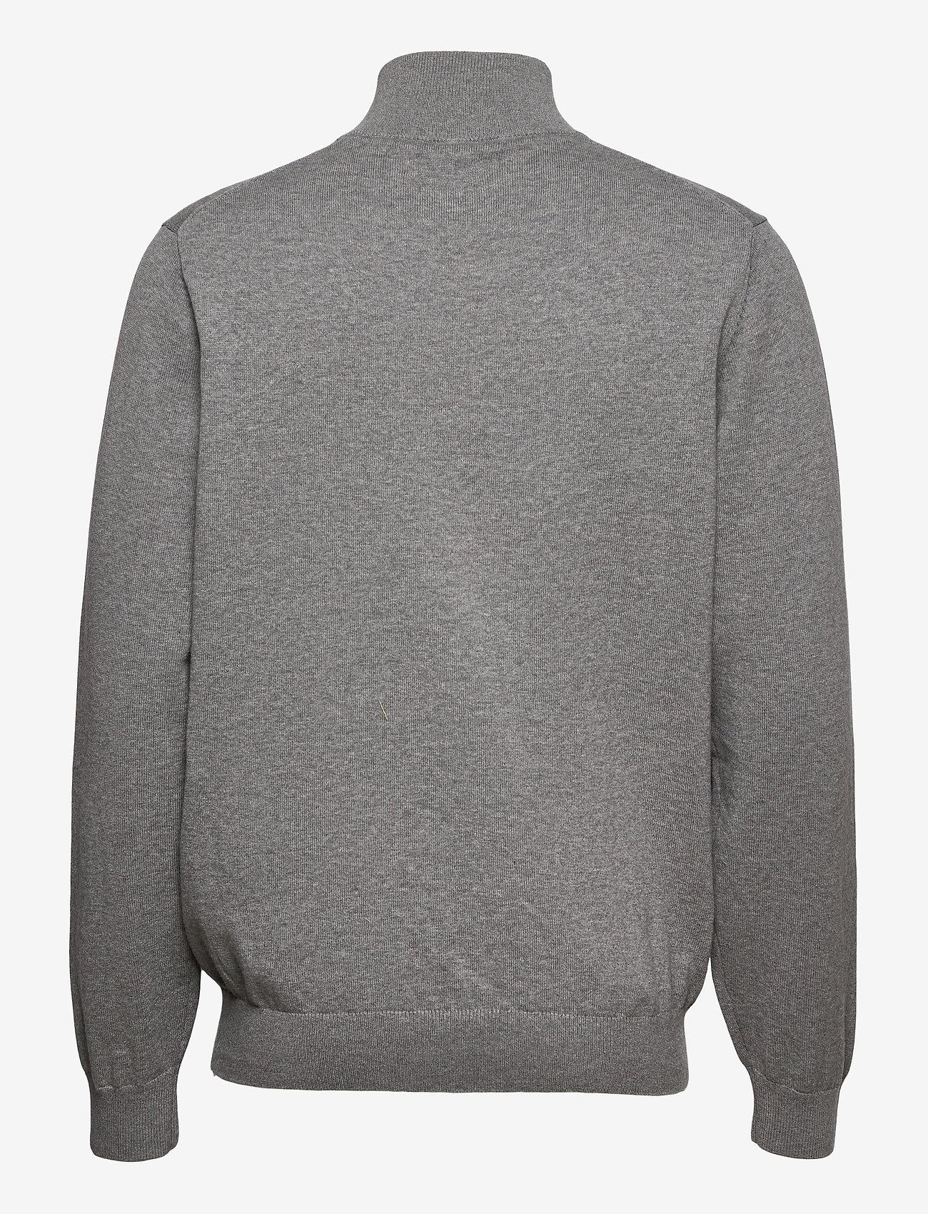 GANT - CLASSIC COTTON HALF ZIP - half zip - dark grey melange - 1
