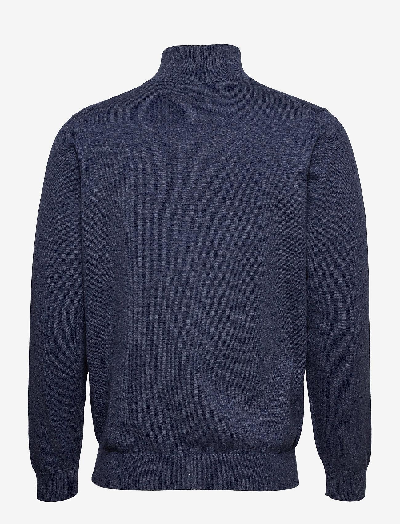 GANT - CLASSIC COTTON HALF ZIP - half zip - dark jeansblue melange - 1