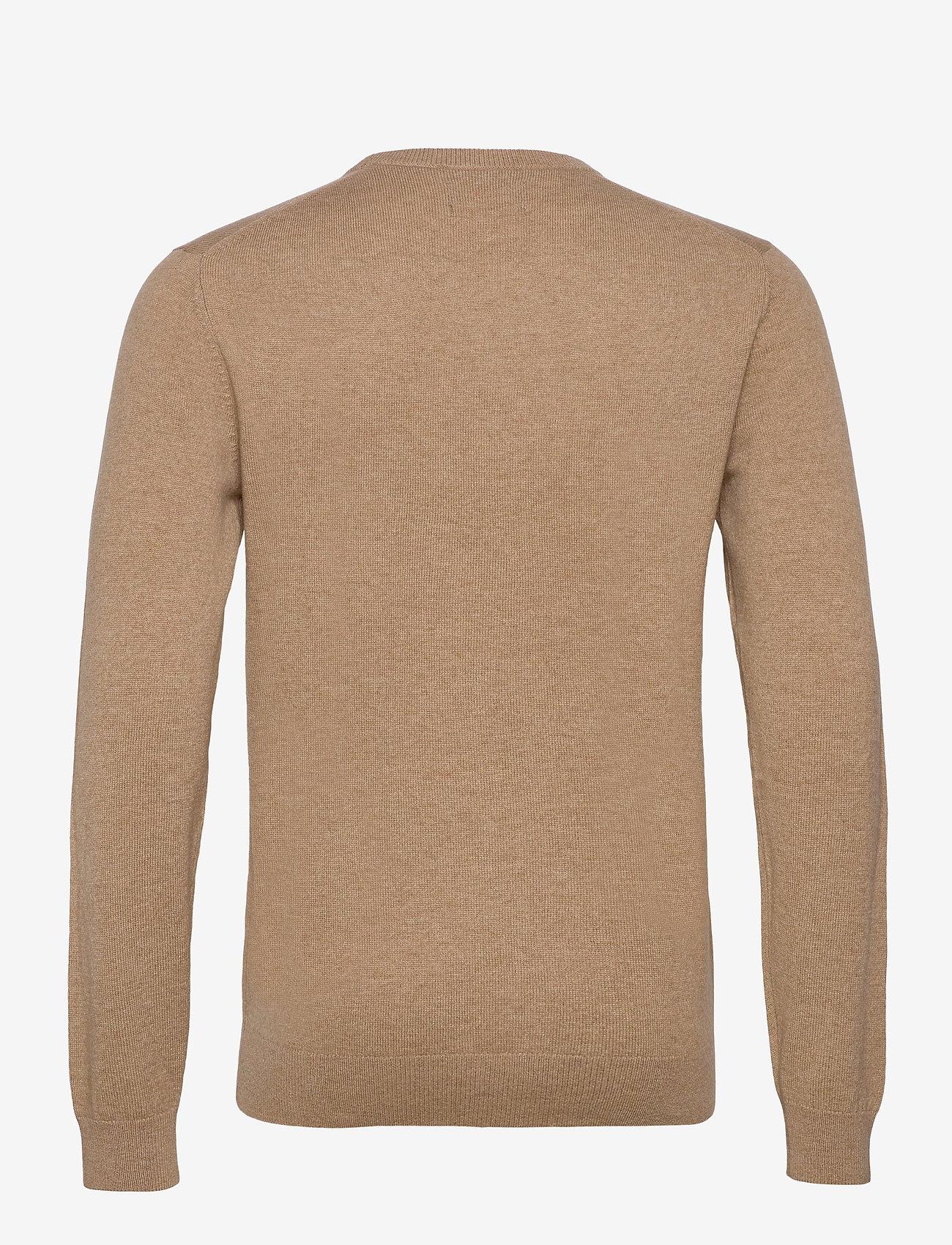 GANT - D1. WOOL CASHMERE  C-NECK - basic knitwear - warm khaki - 1