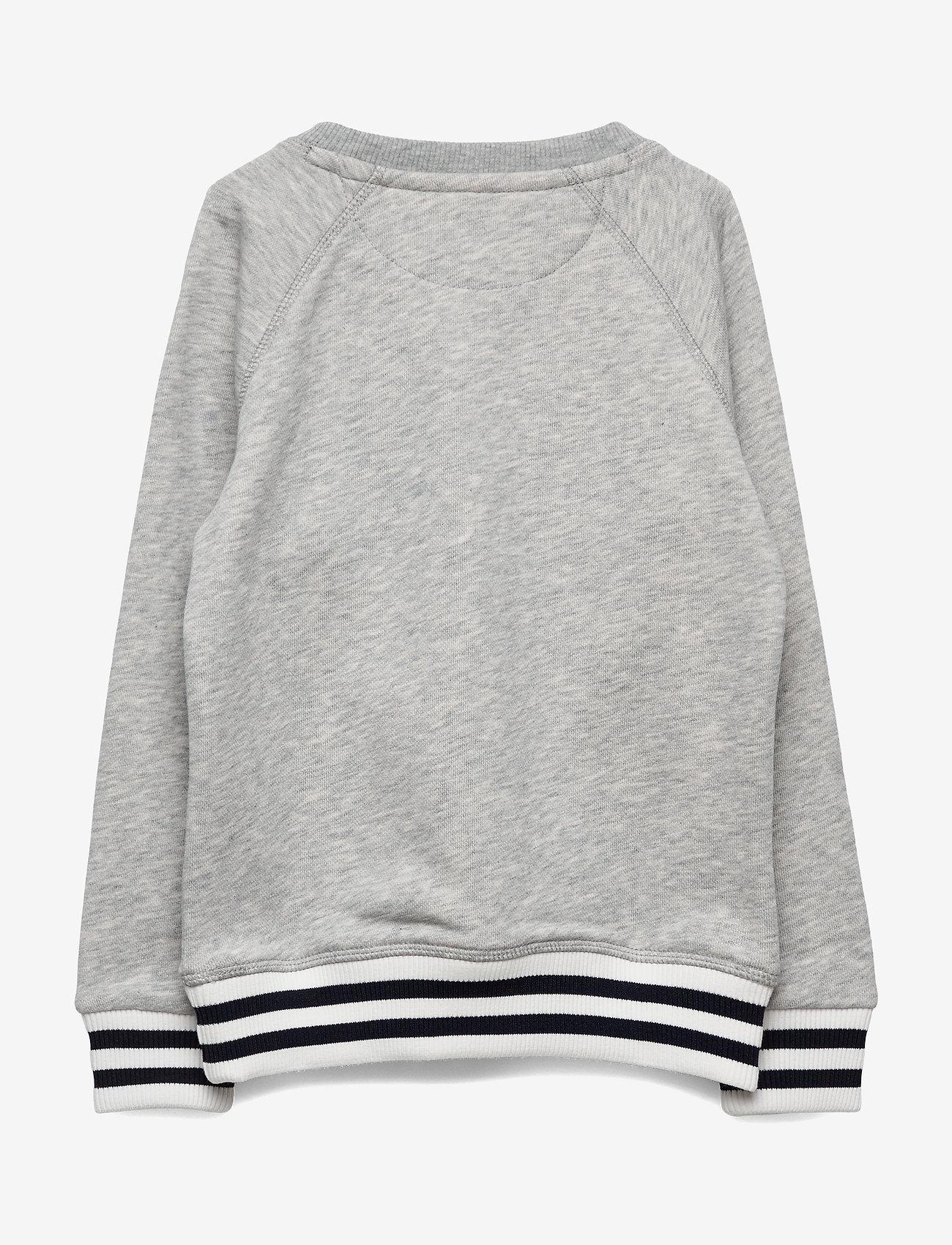 Gant - D1. PREPPY GANT C-NECK SWEAT - sweatshirts - light grey melange