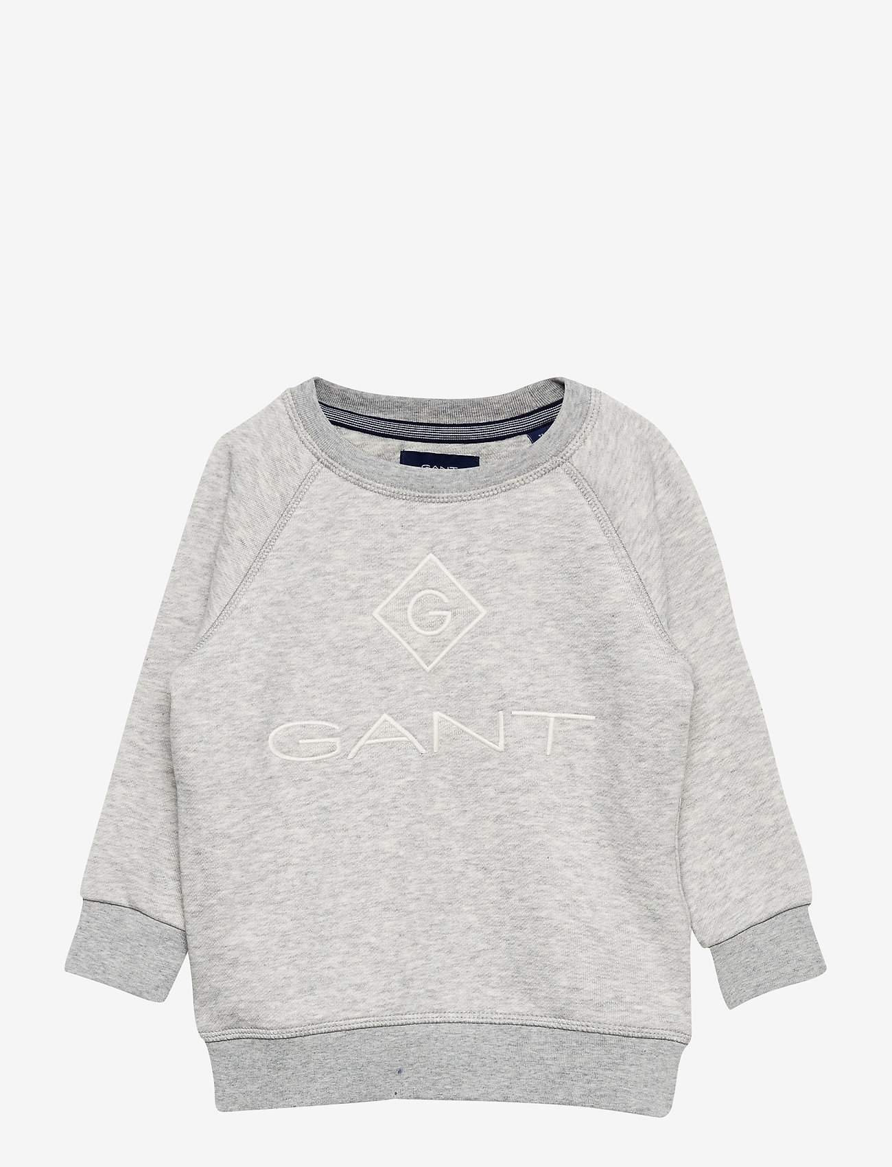 GANT - GANT LOCK-UP SWEAT C-NECK - sweatshirts - light grey melange - 0