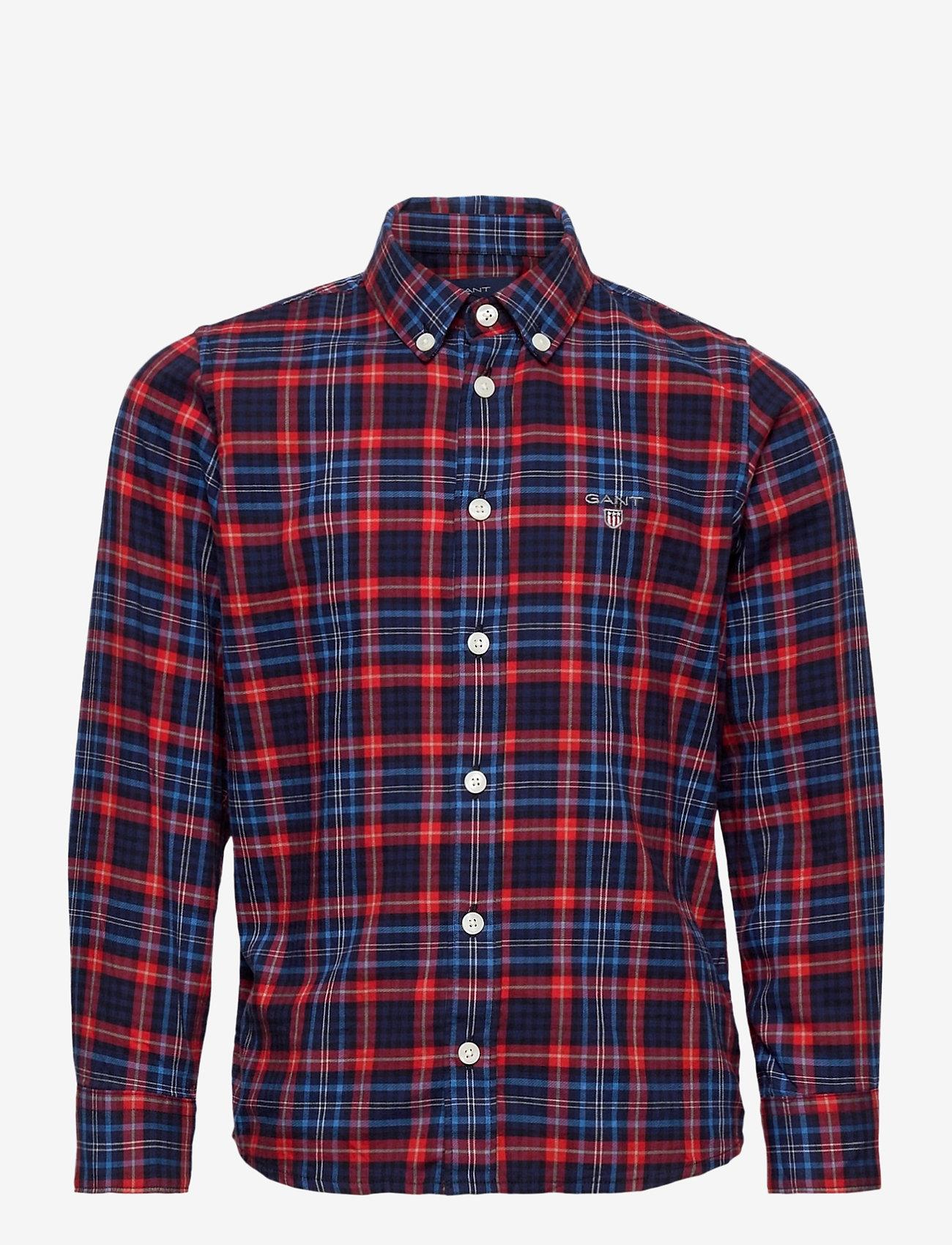 GANT - D1. MICRO TARTAN SHIRT - shirts - atomic orange - 0