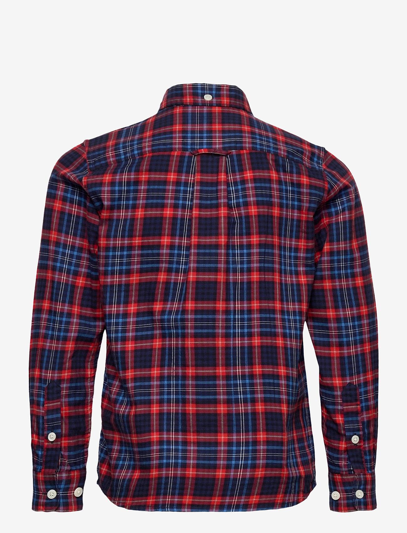 GANT - D1. MICRO TARTAN SHIRT - shirts - atomic orange - 1