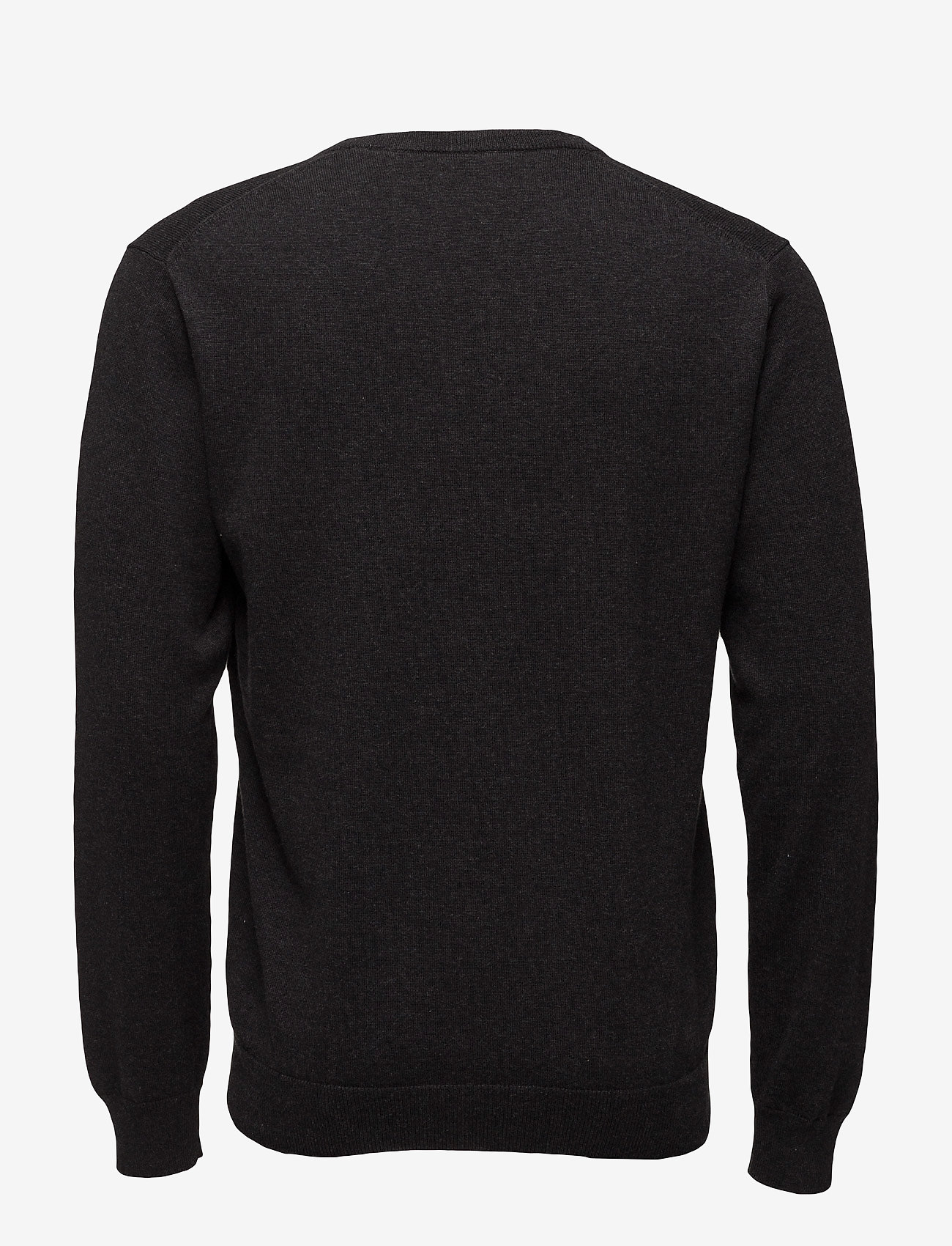 GANT - LIGHT WEIGHT COTTON V-NECK - basisstrikkeplagg - dk charcoal melange - 1