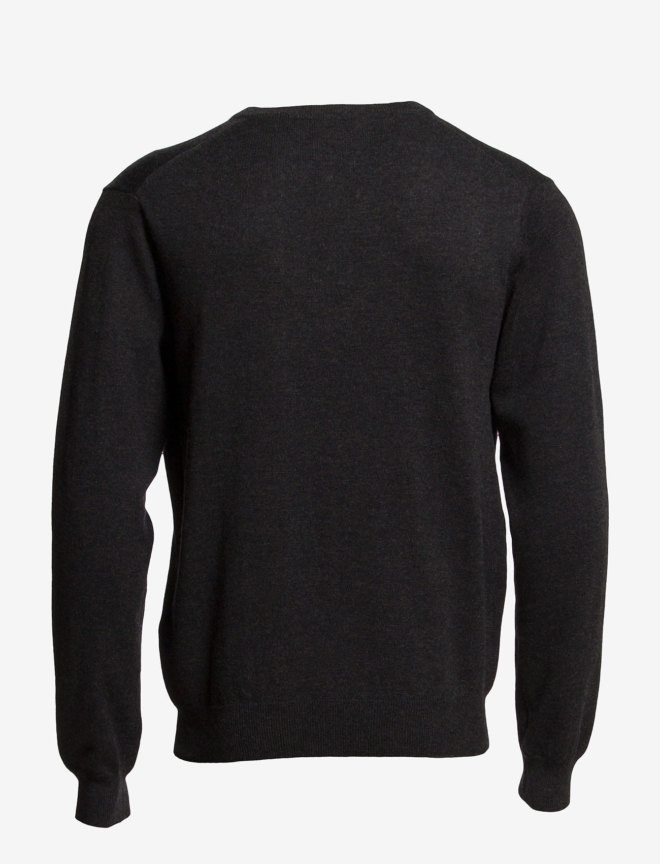 GANT - COTTON WOOL V-NECK - knitted v-necks - dk charcoal melange - 1