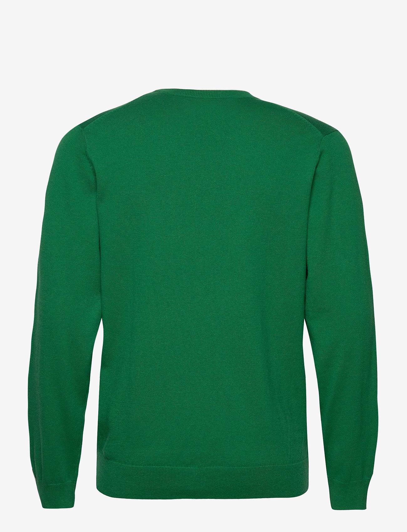 GANT - COTTON WOOL V-NECK - knitted v-necks - kelly green - 1