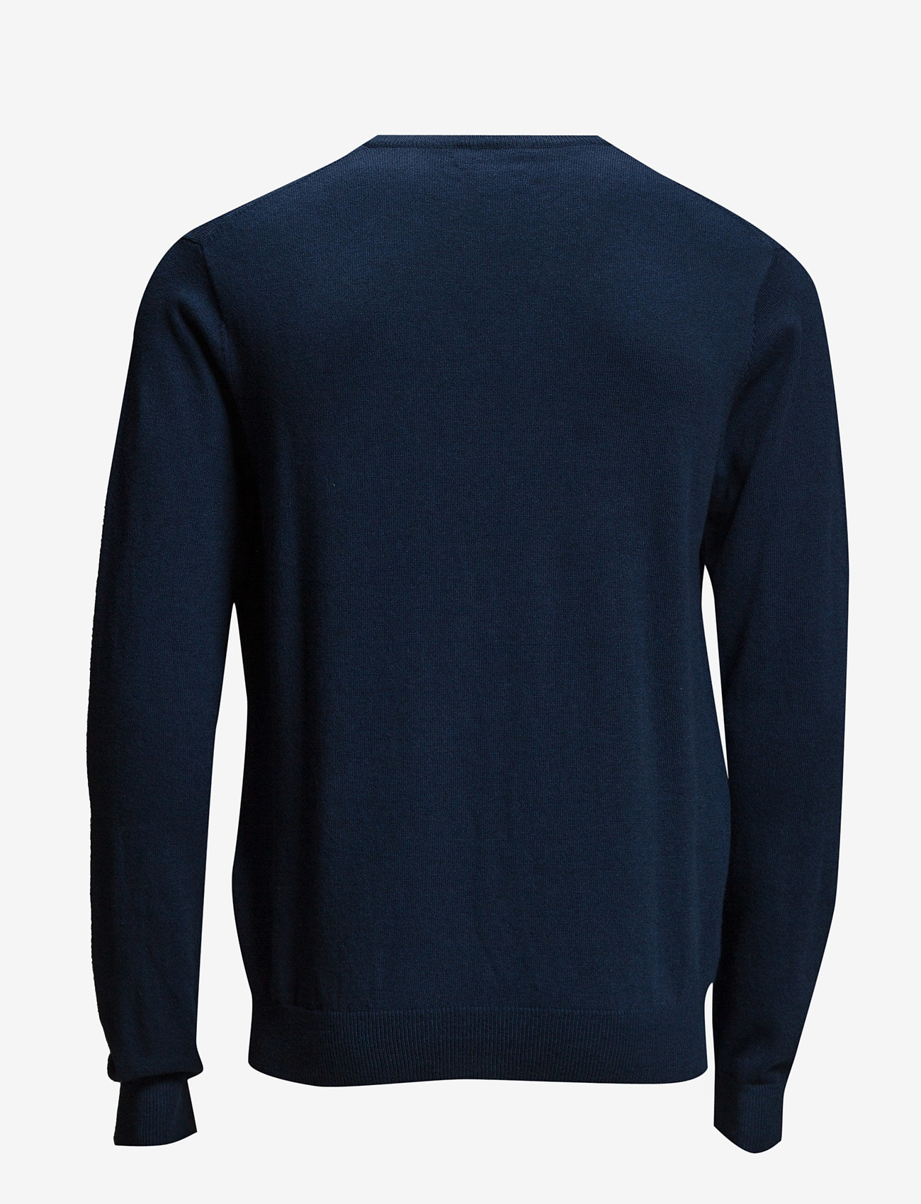 GANT - COTTON WOOL V-NECK - knitted v-necks - marine melange - 1