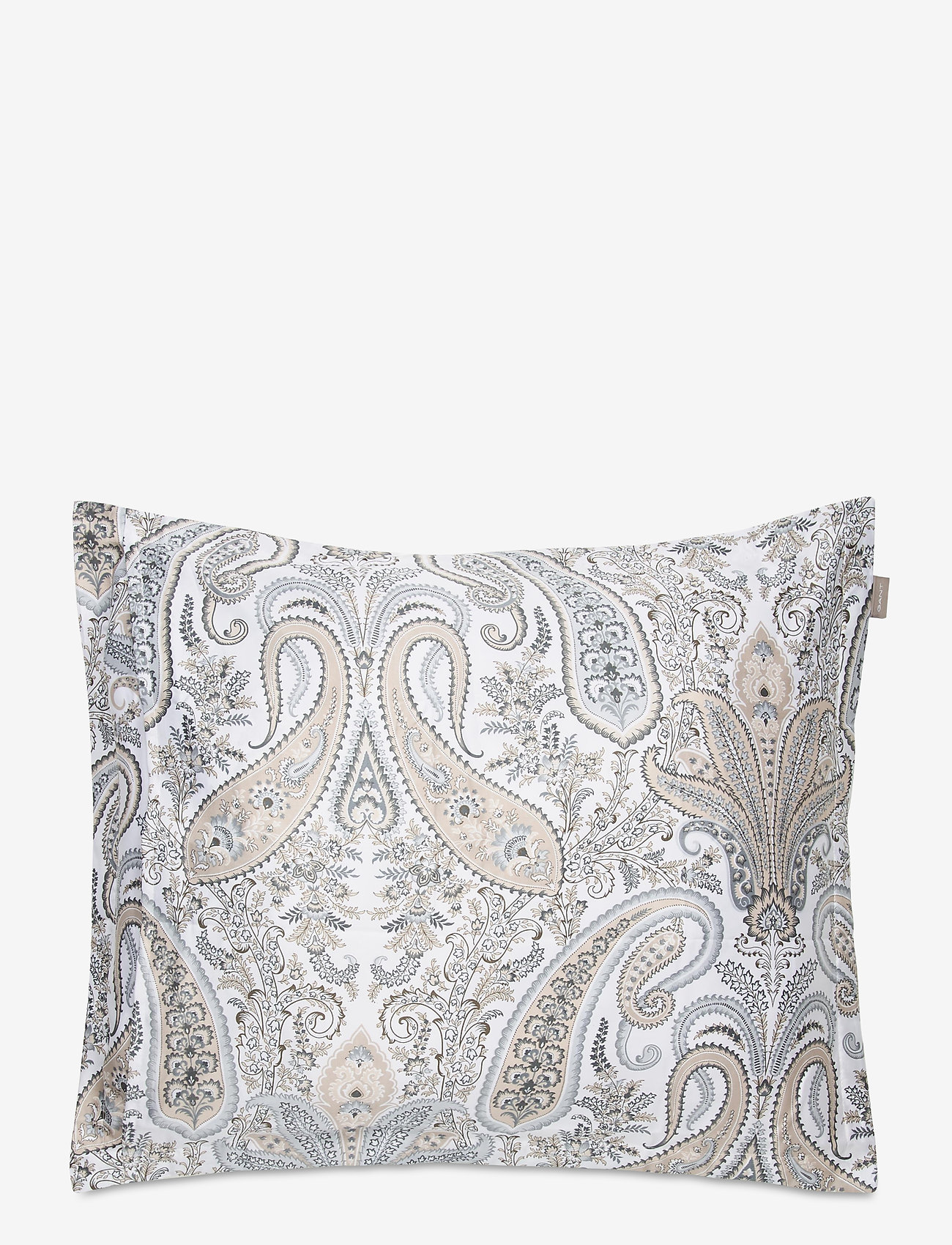 GANT - KEY WEST PAISLEY PILLOWCASE - pillowcases - grey - 1