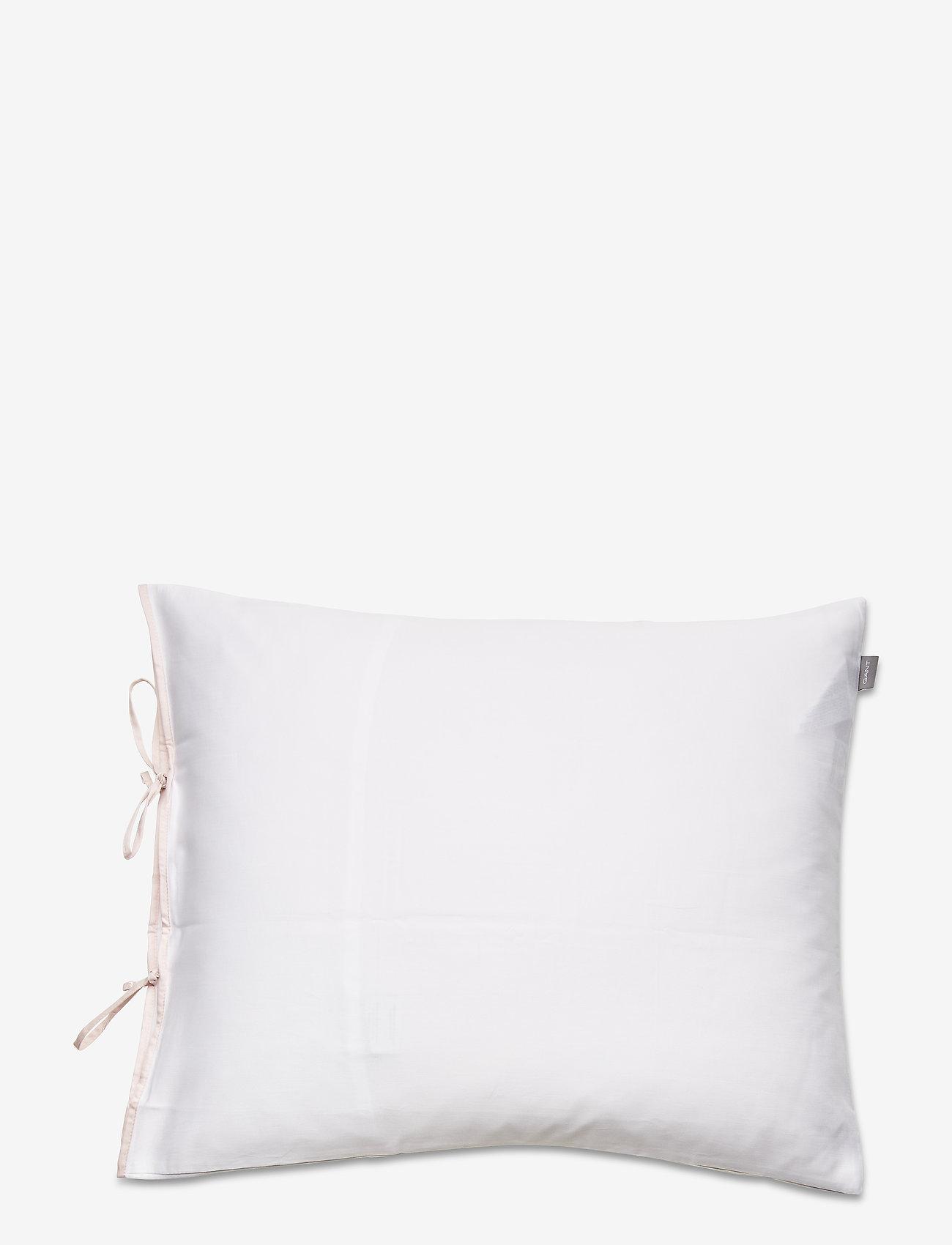 GANT - SATEEN RIBBON PILLOWCASE - pillowcases - pink - 0