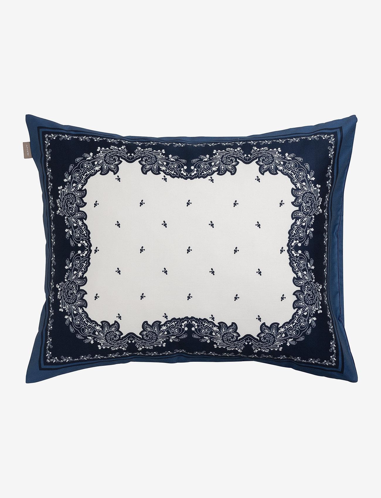 GANT - BANDANA PAISLEY PILLOWCASE - pillowcases - yankee blue - 0