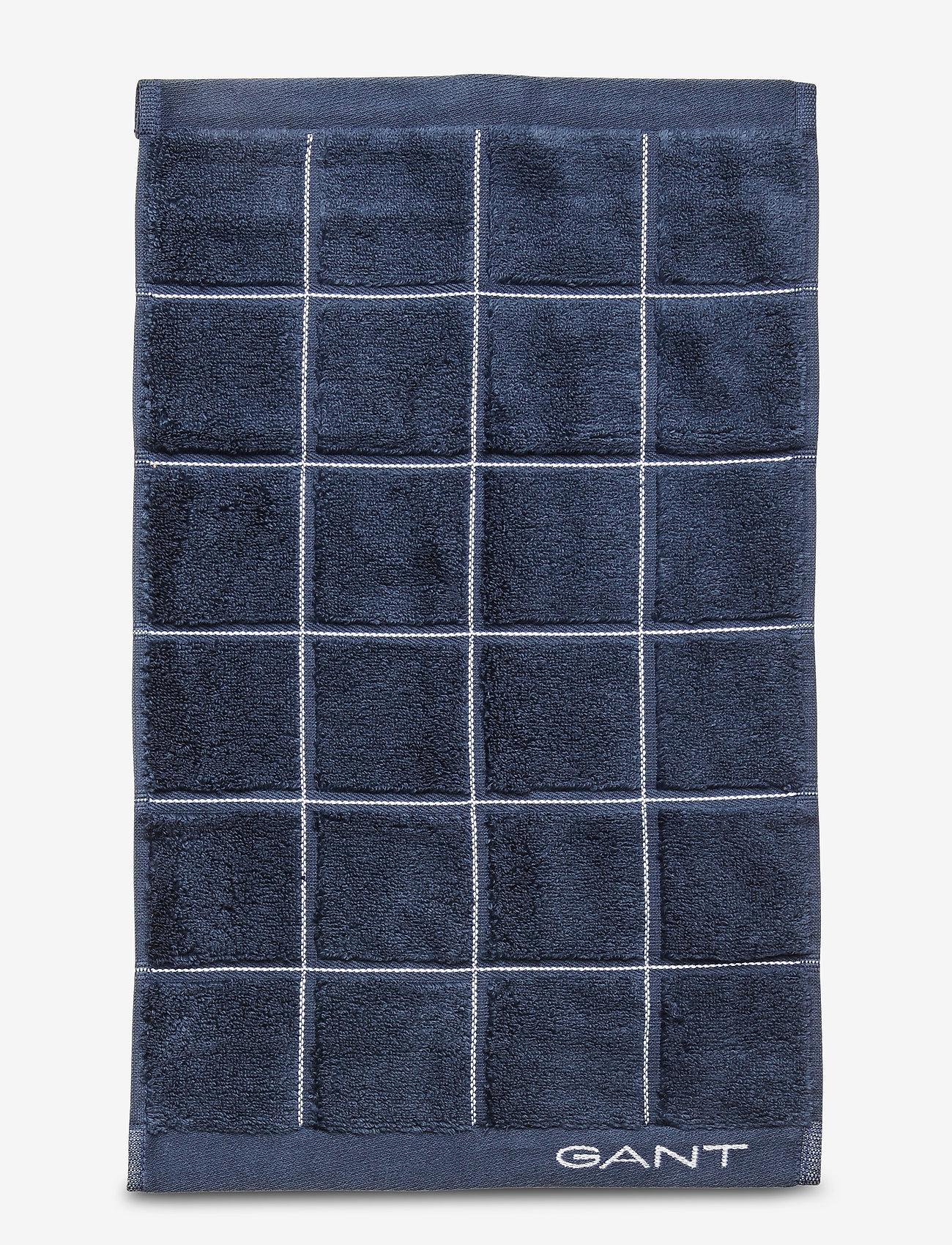 GANT - WINDOW CHECK TOWEL 30X50 - towels - sateen blue - 0