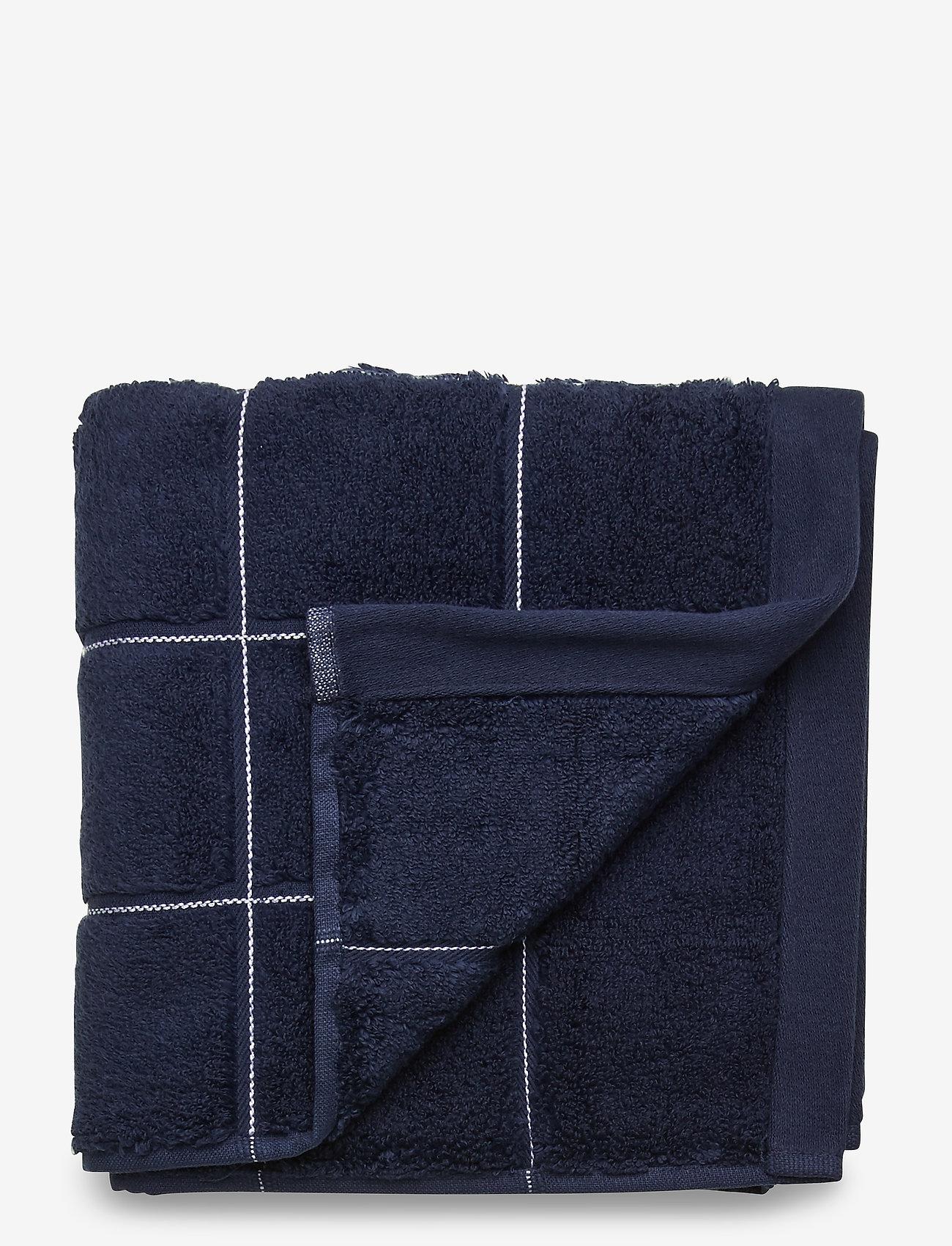 GANT - WINDOW CHECK TOWEL 50X100 - towels - yankee blue - 0