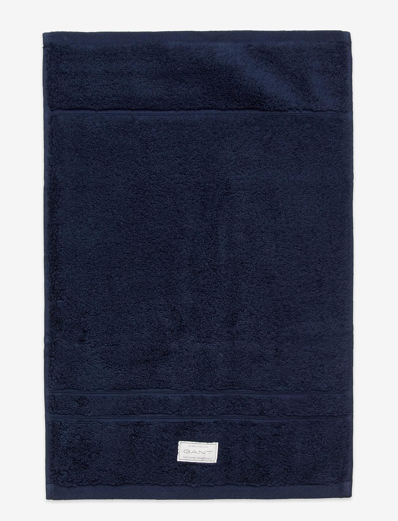 GANT - PREMIUM TOWEL 30X50 - pyyhkeet & kylpypyyhkeet - yankee blue - 0