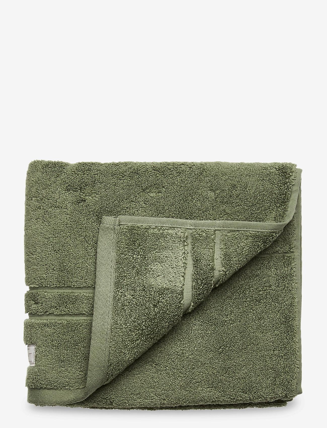 GANT - PREMIUM TOWEL 50X70 1-pack - hand towels & bath towels - agave green - 0
