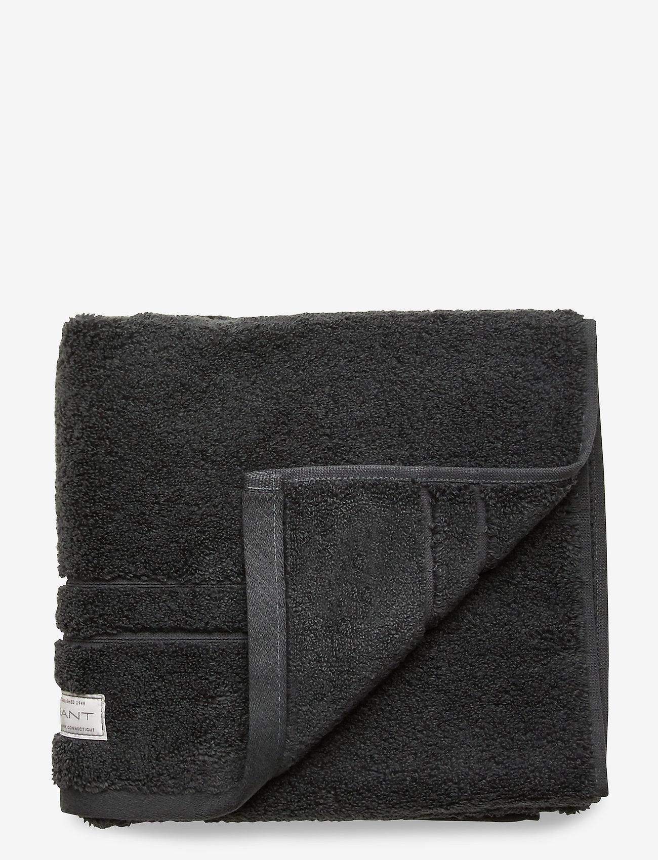 GANT - PREMIUM TOWEL 50X70 1-pack - hand towels & bath towels - antracite - 0