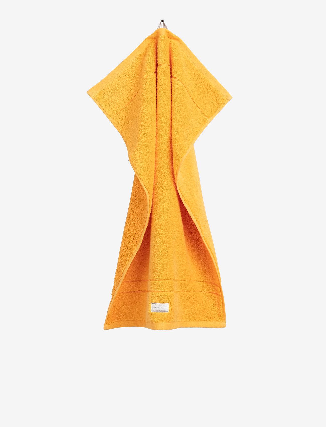 GANT - PREMIUM TOWEL 50X70 1-pack - hand towels & bath towels - mandarin orange - 0