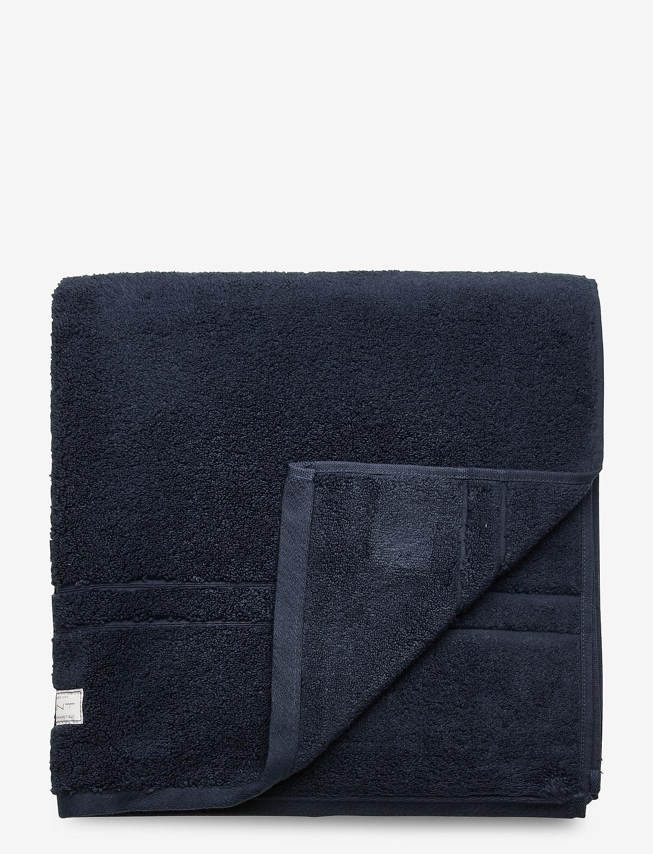 GANT - PREMIUM TOWEL 70X140 - hand towels & bath towels - sateen blue - 0