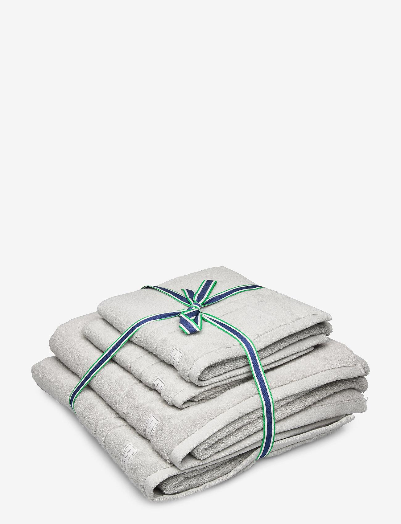 GANT - ORGANIC PREMIUM 4p 50x70 70x140 - towels - light grey - 0