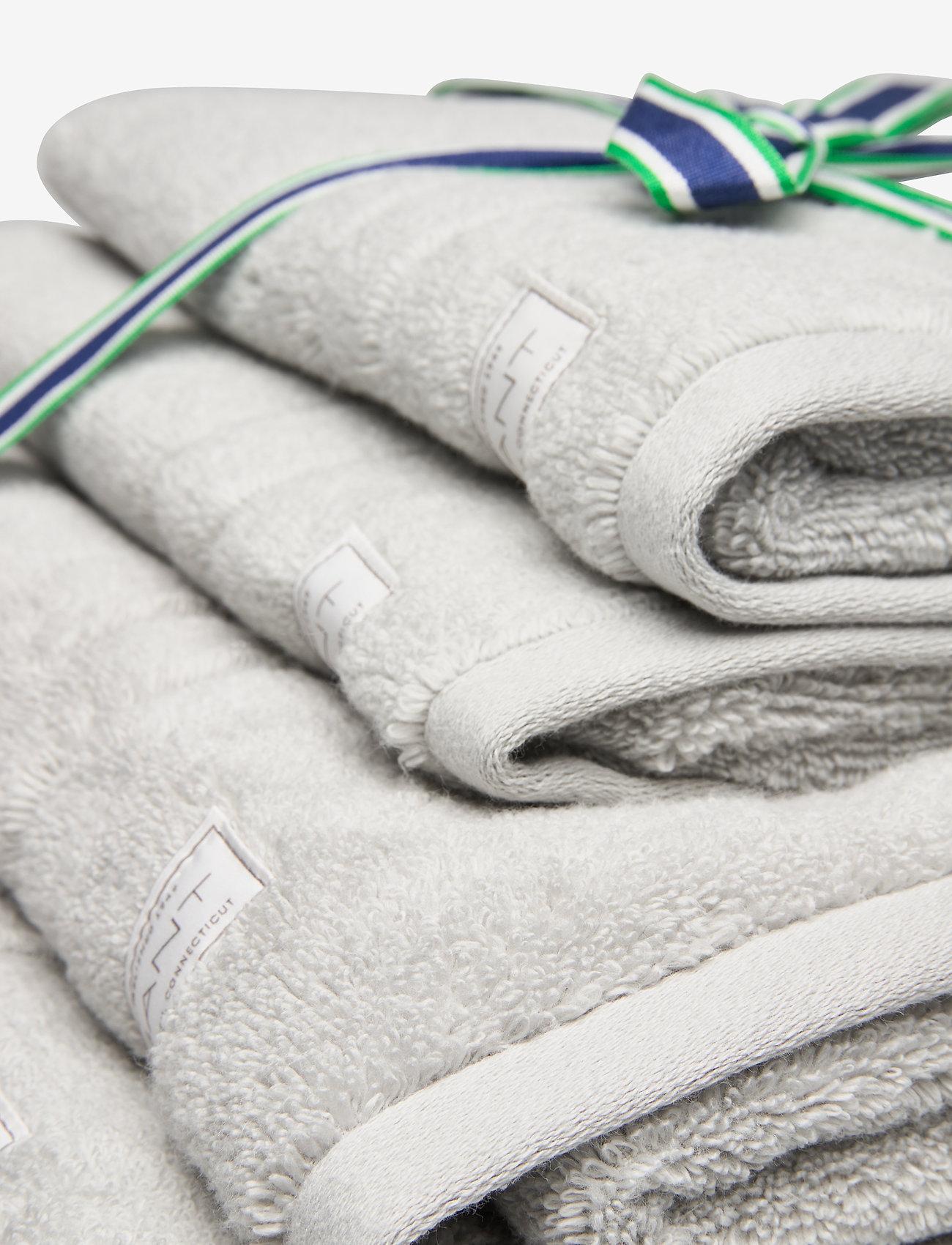 GANT - ORGANIC PREMIUM 4p 50x70 70x140 - towels - light grey - 1