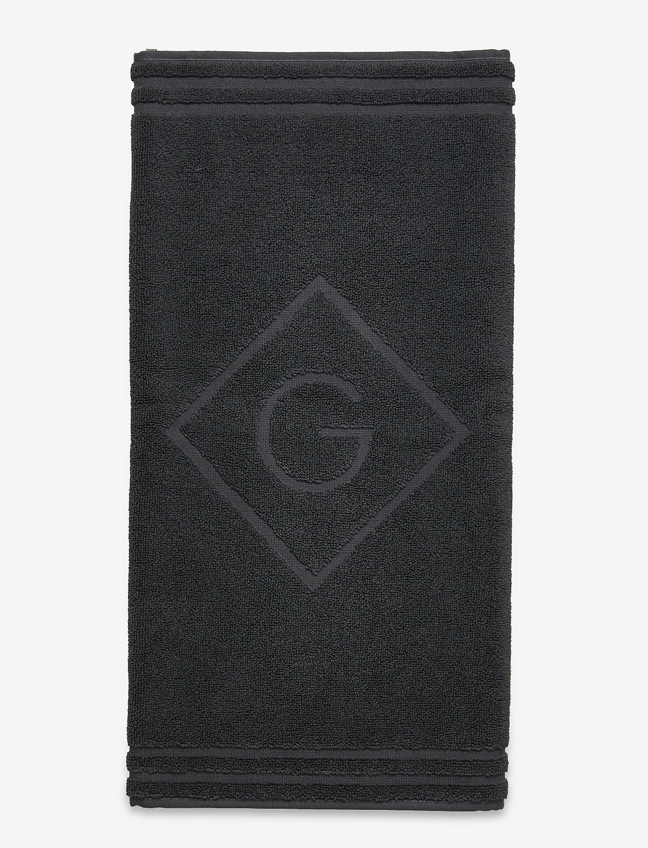 GANT - ORGANIC G SHOWER MAT 50X80 - hand towels & bath towels - antracite - 0
