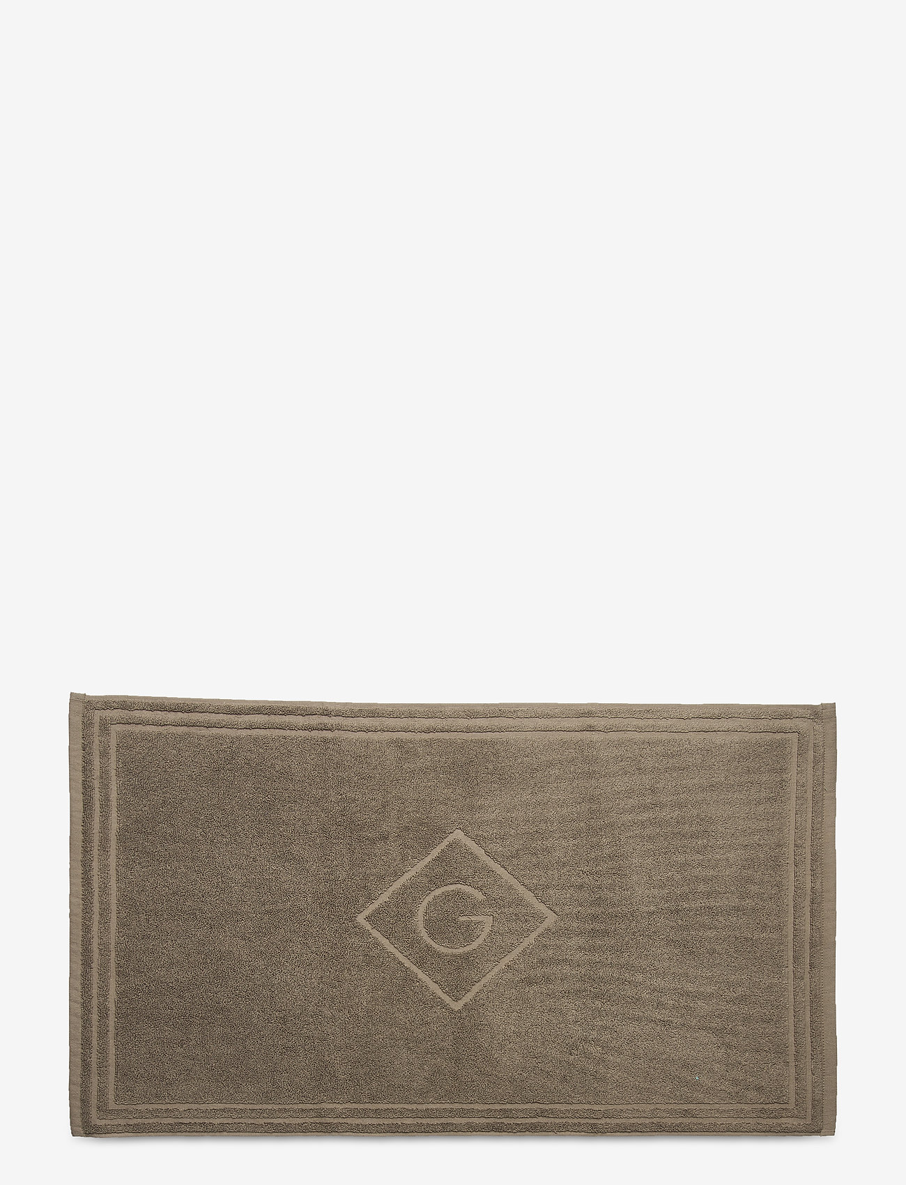 GANT - ORGANIC G SHOWER MAT 50X80 - hand towels & bath towels - desert brown - 0