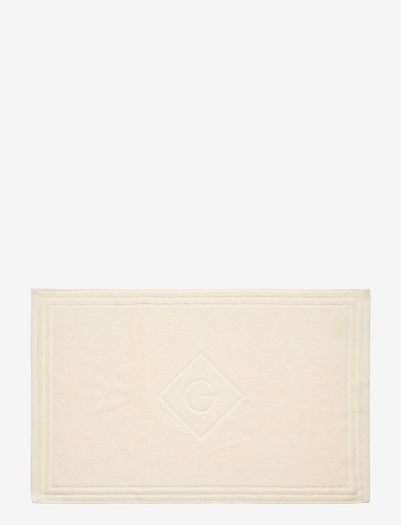 GANT - ORGANIC G SHOWER MAT 50X80 - hand towels & bath towels - eggshell - 0