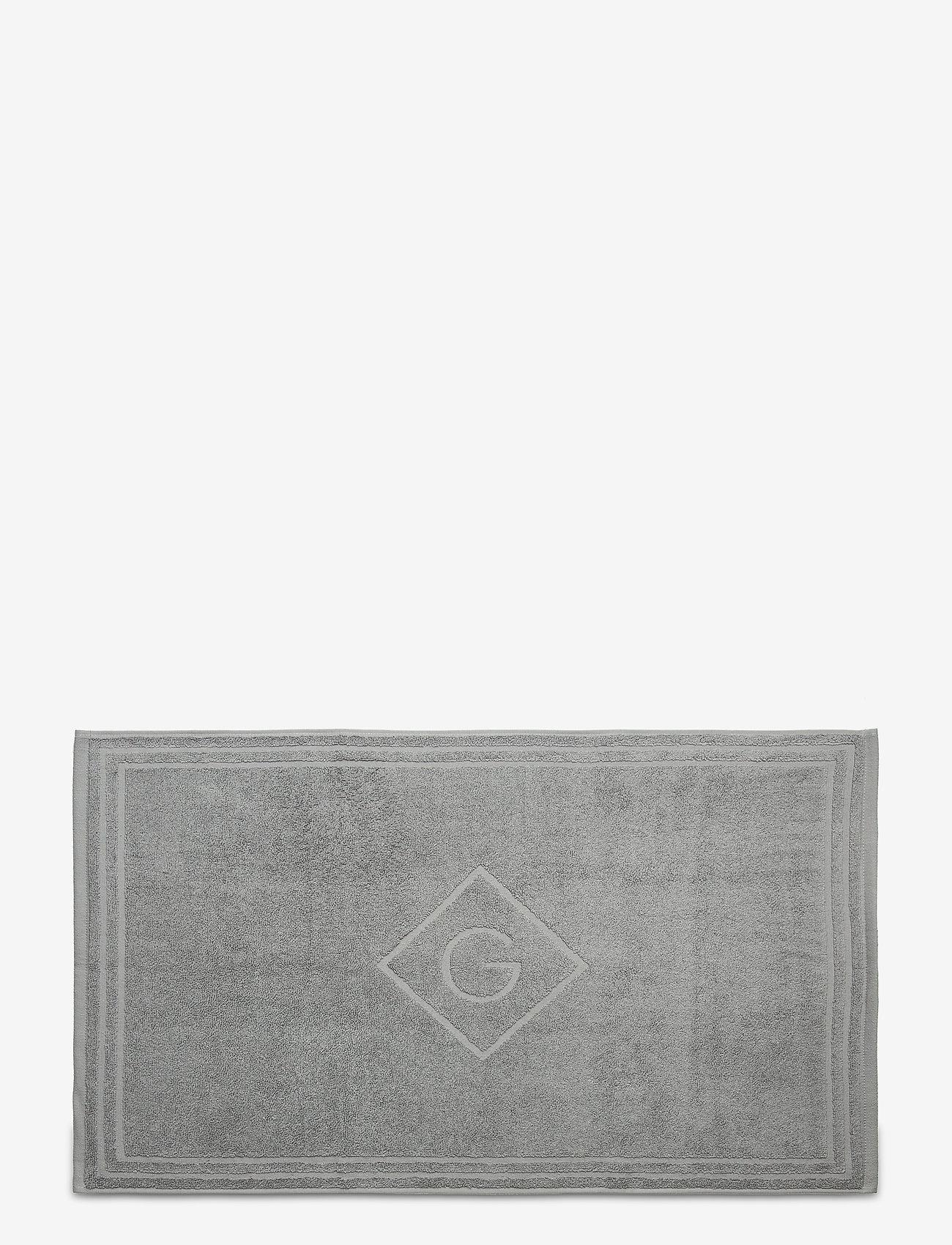 GANT - G SHOWER MAT 50X80 - hand towels & bath towels - elephant grey - 0