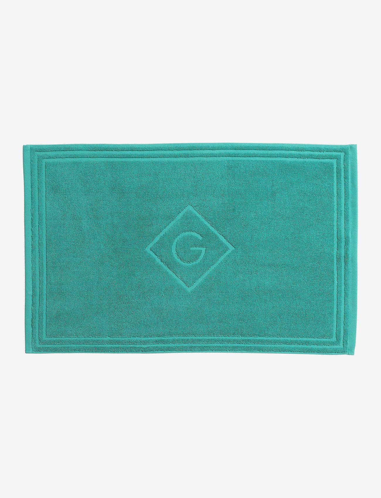GANT - G SHOWER MAT 50X80 - pyyhkeet & kylpypyyhkeet - green lagoon - 0