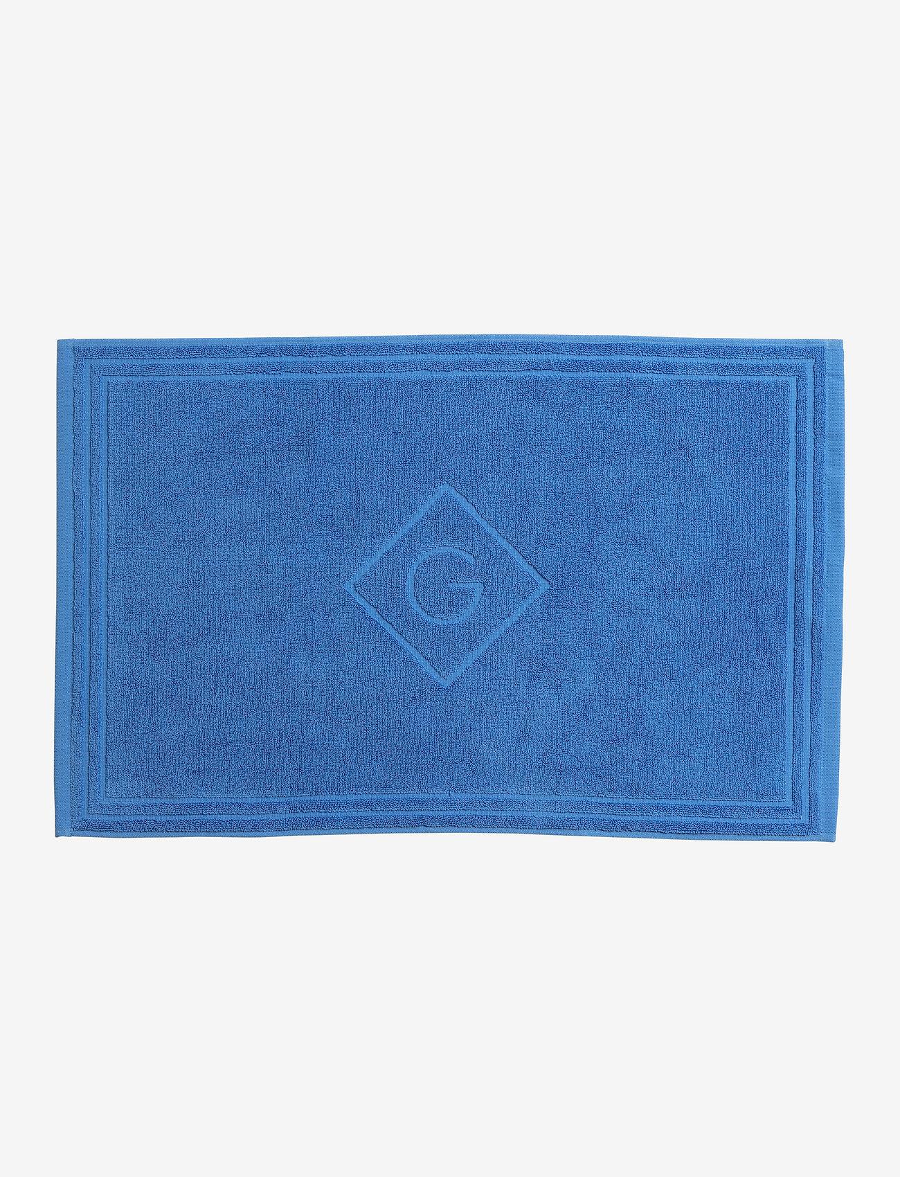GANT - G SHOWER MAT 50X80 - hand towels & bath towels - pacific blue - 0