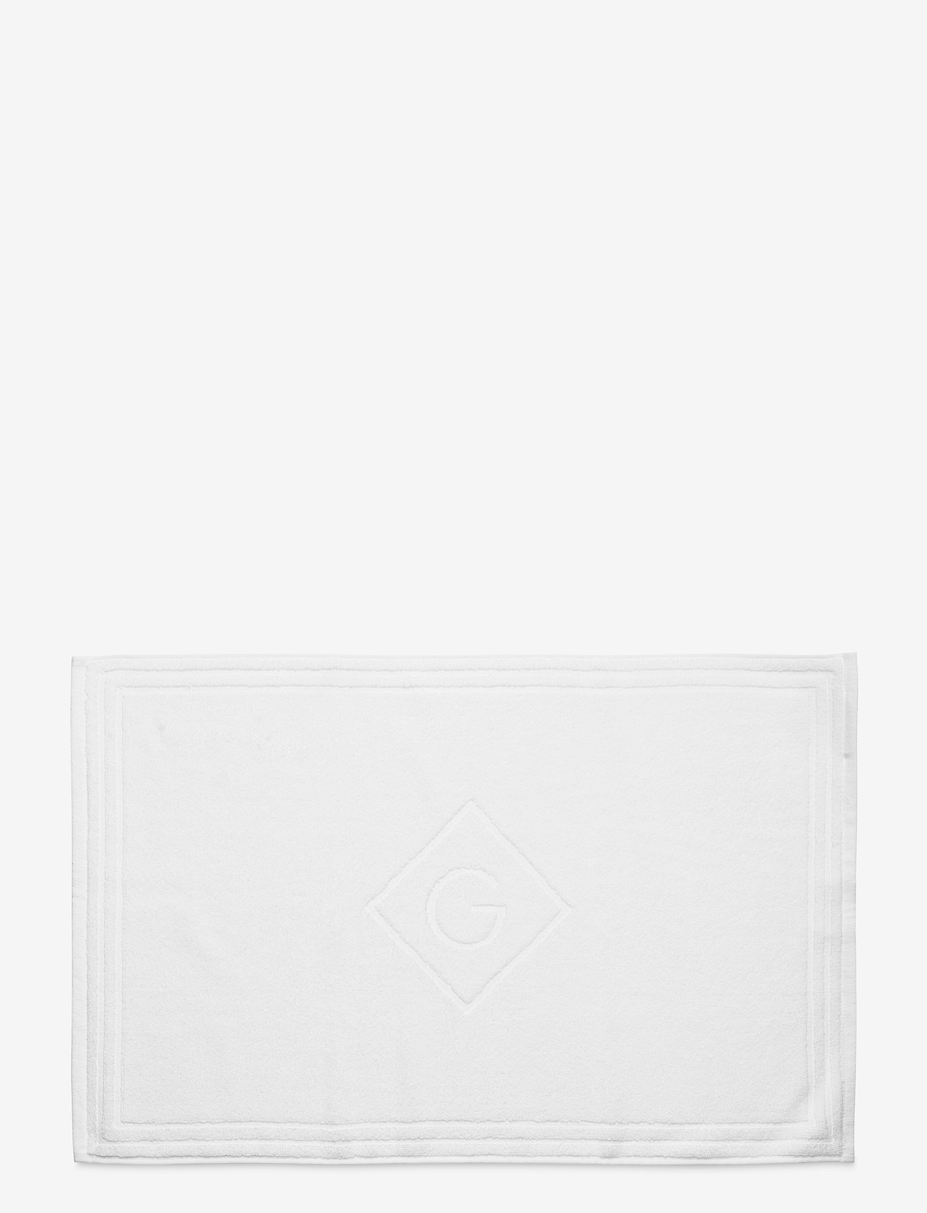 GANT - G SHOWER MAT 50X80 - hand towels & bath towels - white - 0