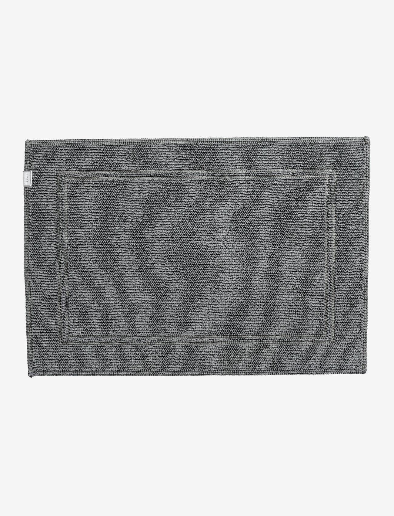 GANT - ORGANIC BATHRUG 60X90 - kylpyhuonematot - light grey - 0