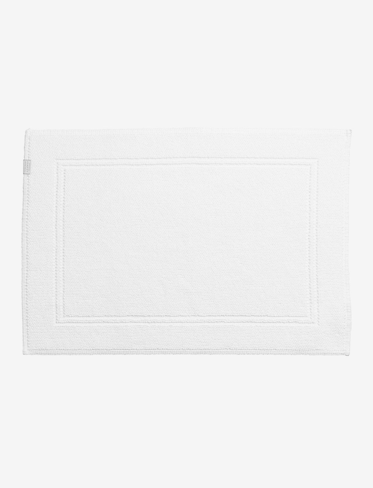 GANT - ORGANIC BATHRUG 60X90 - kylpyhuonematot - white - 0