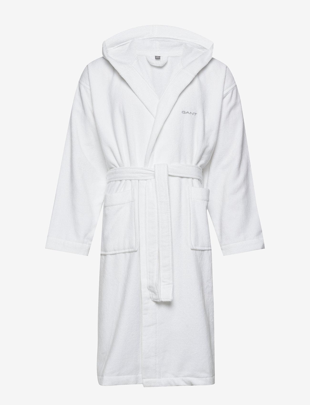 Gant - LIGHT VELOUR ROBE - bathrobes - white