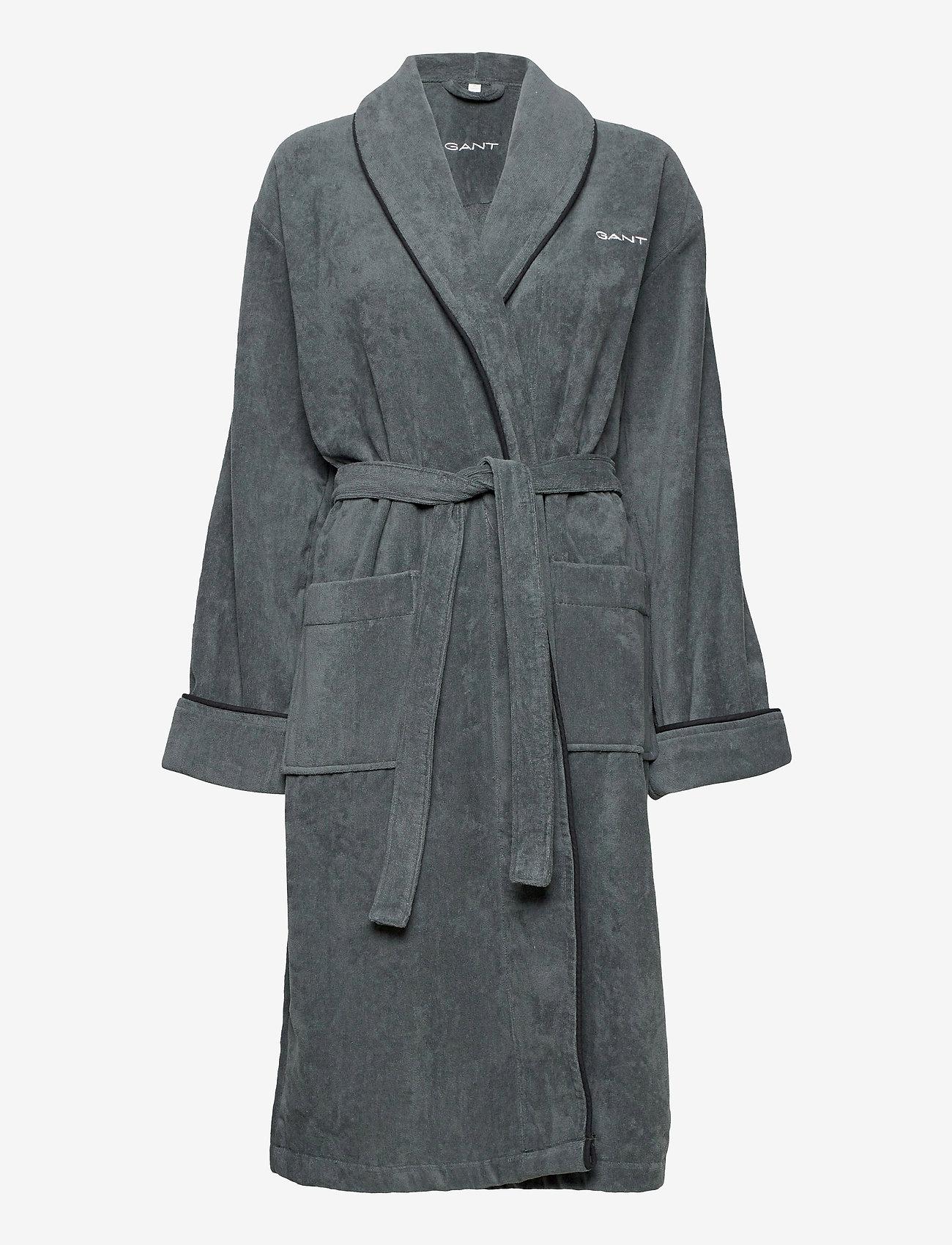 GANT - ORGANIC PREMIUM  ROBE - bathrobes - antracite - 0