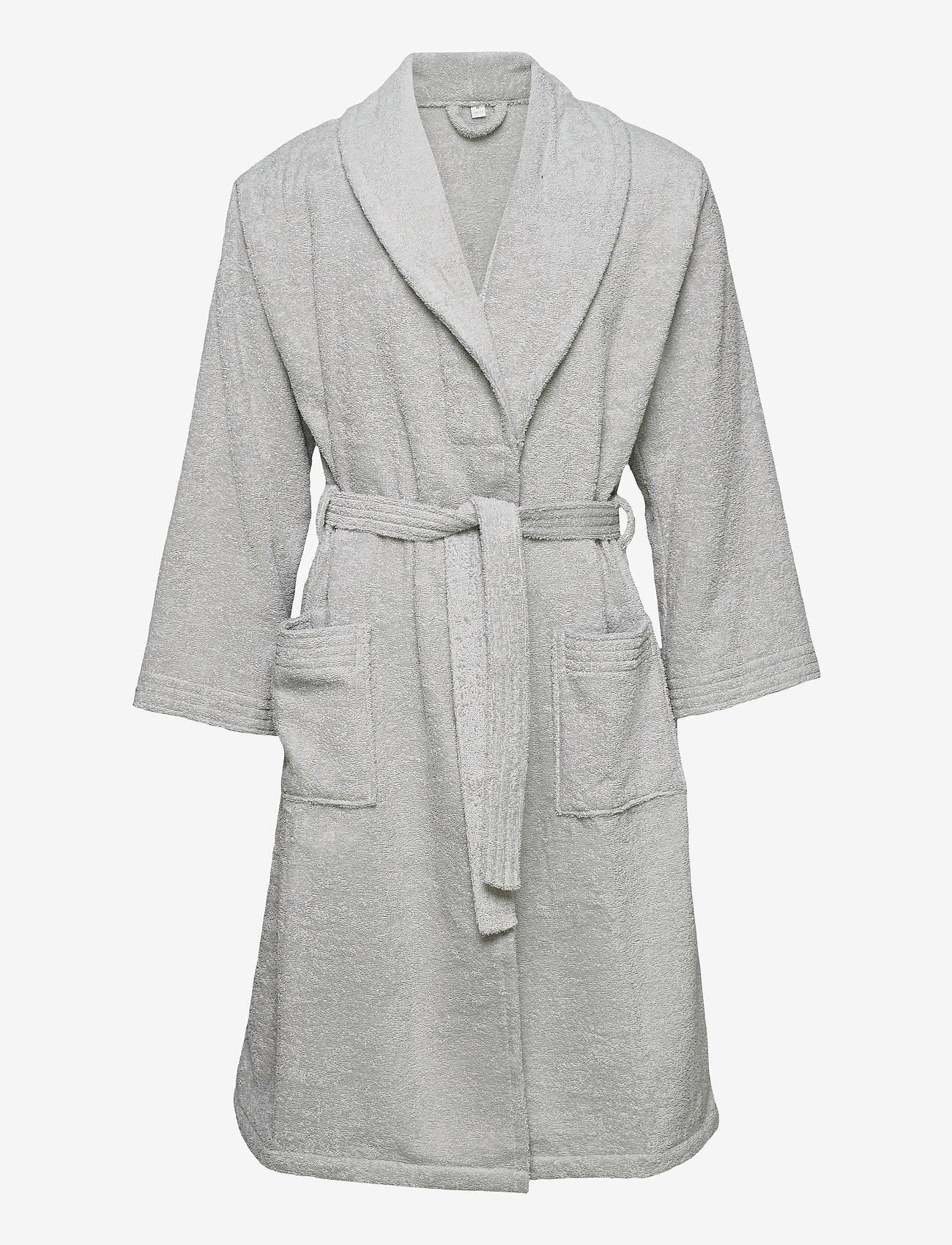 GANT - ORGANIC TERRY BATHROBE - vaatetus - light grey - 0