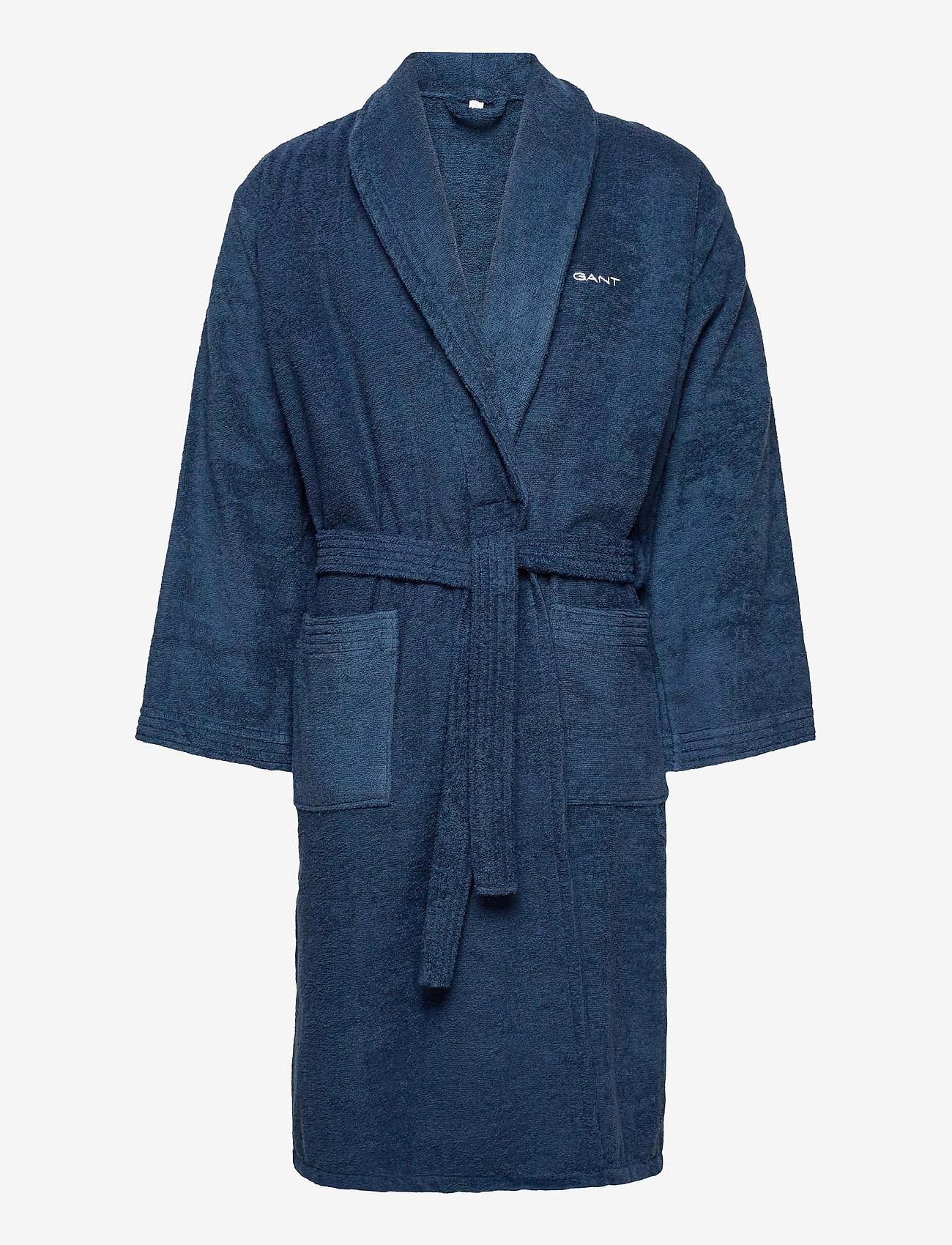 GANT - ORGANIC TERRY BATHROBE - bathrobes - yankee blue - 0