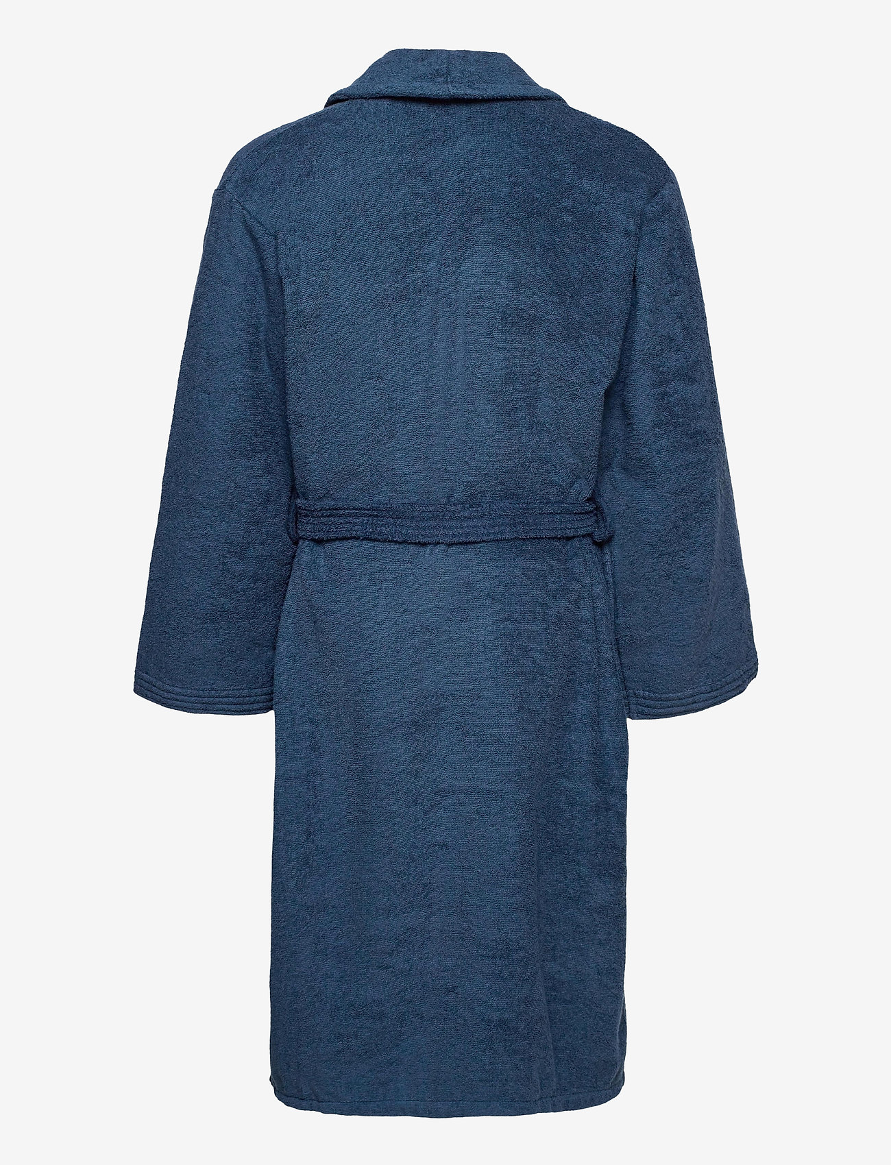 GANT - ORGANIC TERRY BATHROBE - bathrobes - yankee blue - 1