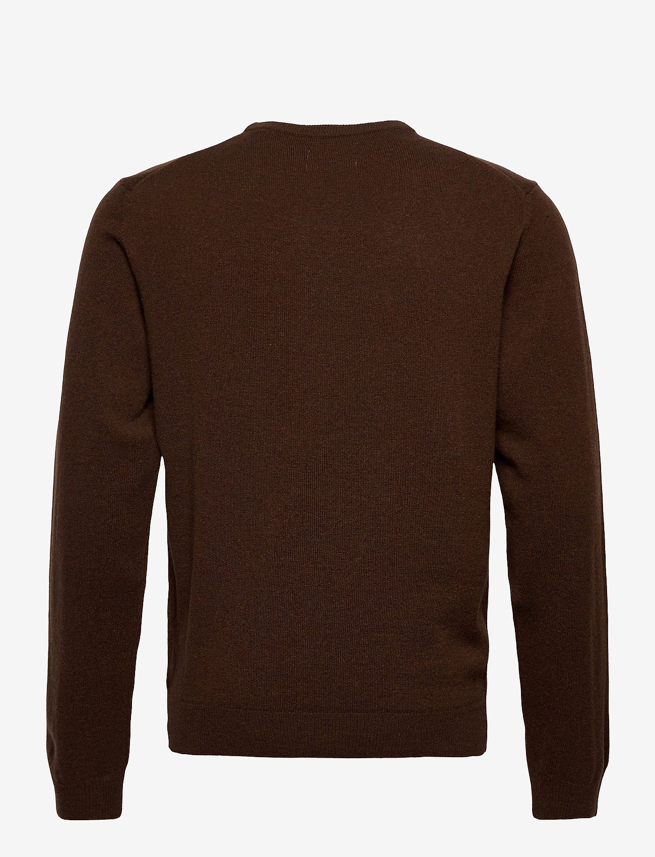GANT - SUPERFINE LAMBSWOOL CREW - basic knitwear - dk brown melange - 1