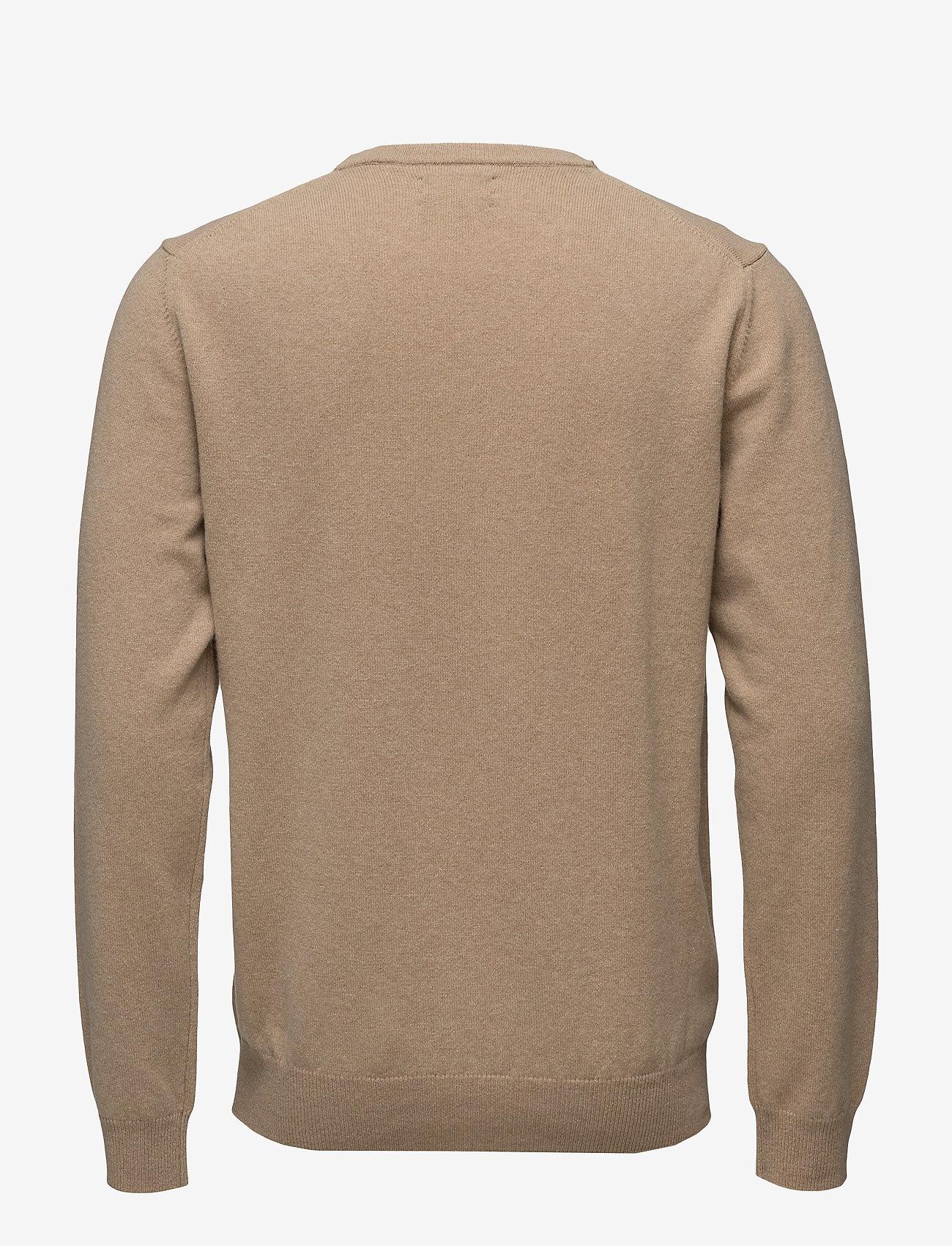 GANT - SUPERFINE LAMBSWOOL CREW - basic knitwear - dk. sand melange - 1
