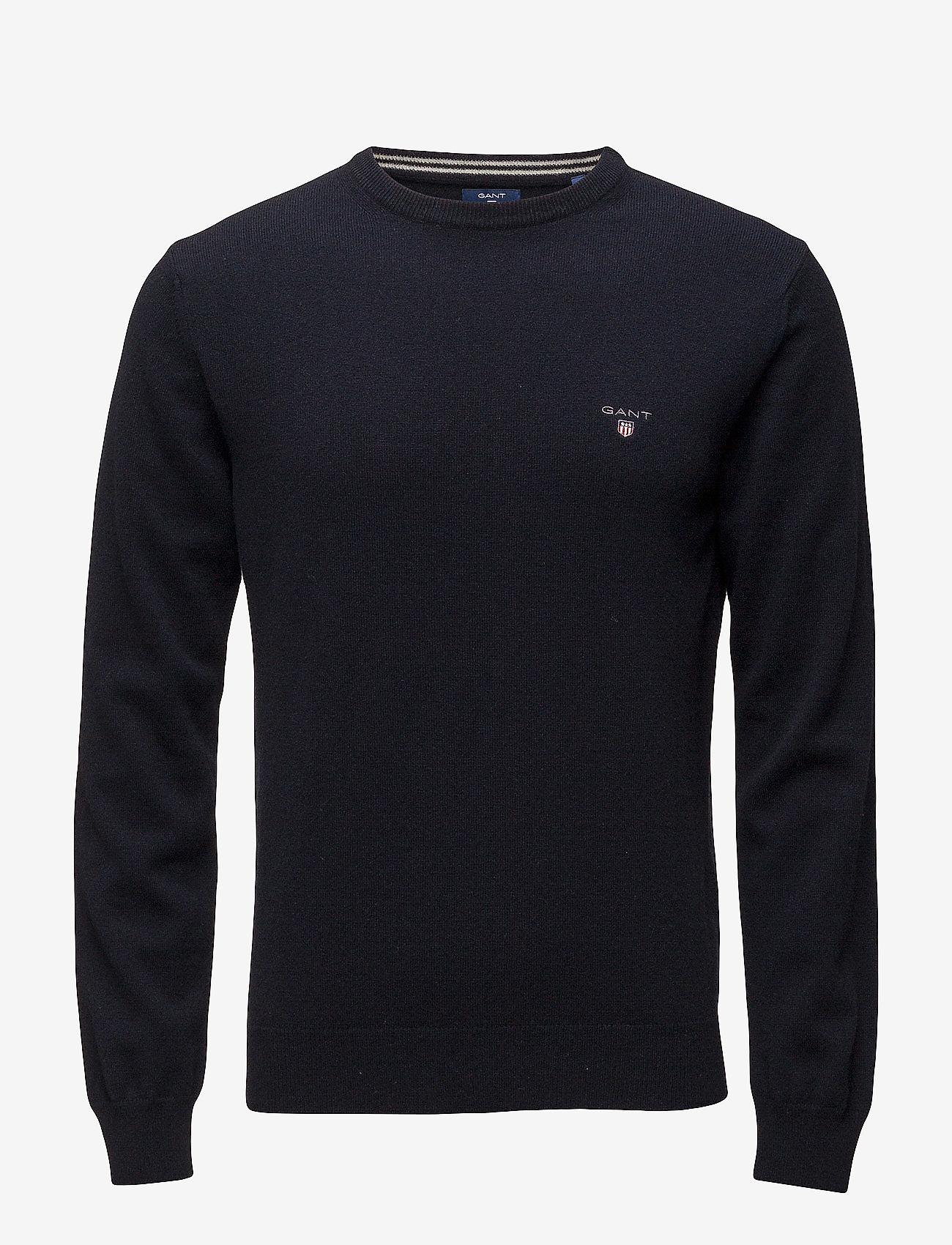 GANT - SUPERFINE LAMBSWOOL CREW - basic knitwear - marine - 0