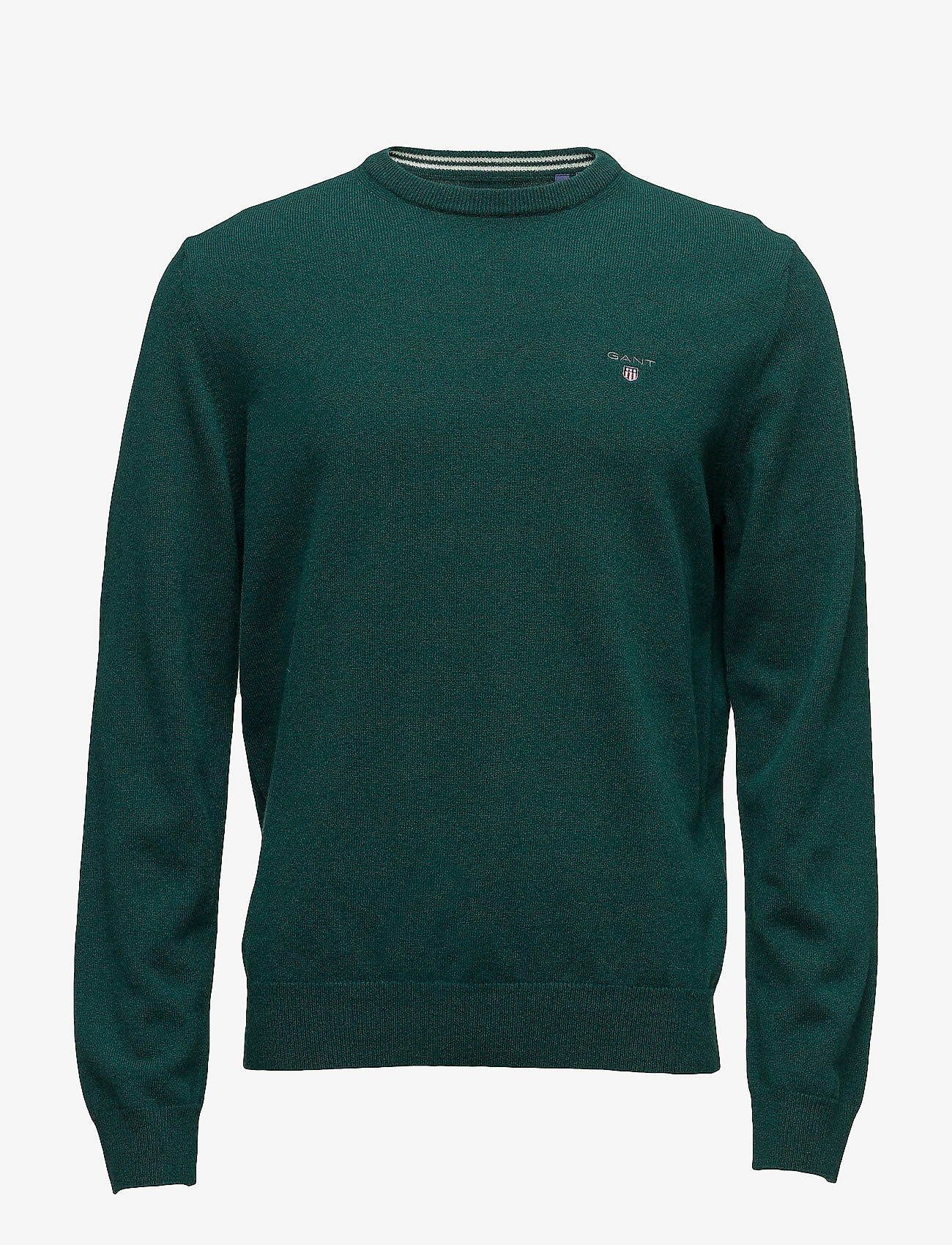 GANT - SUPERFINE LAMBSWOOL CREW - basic knitwear - tartan green - 0