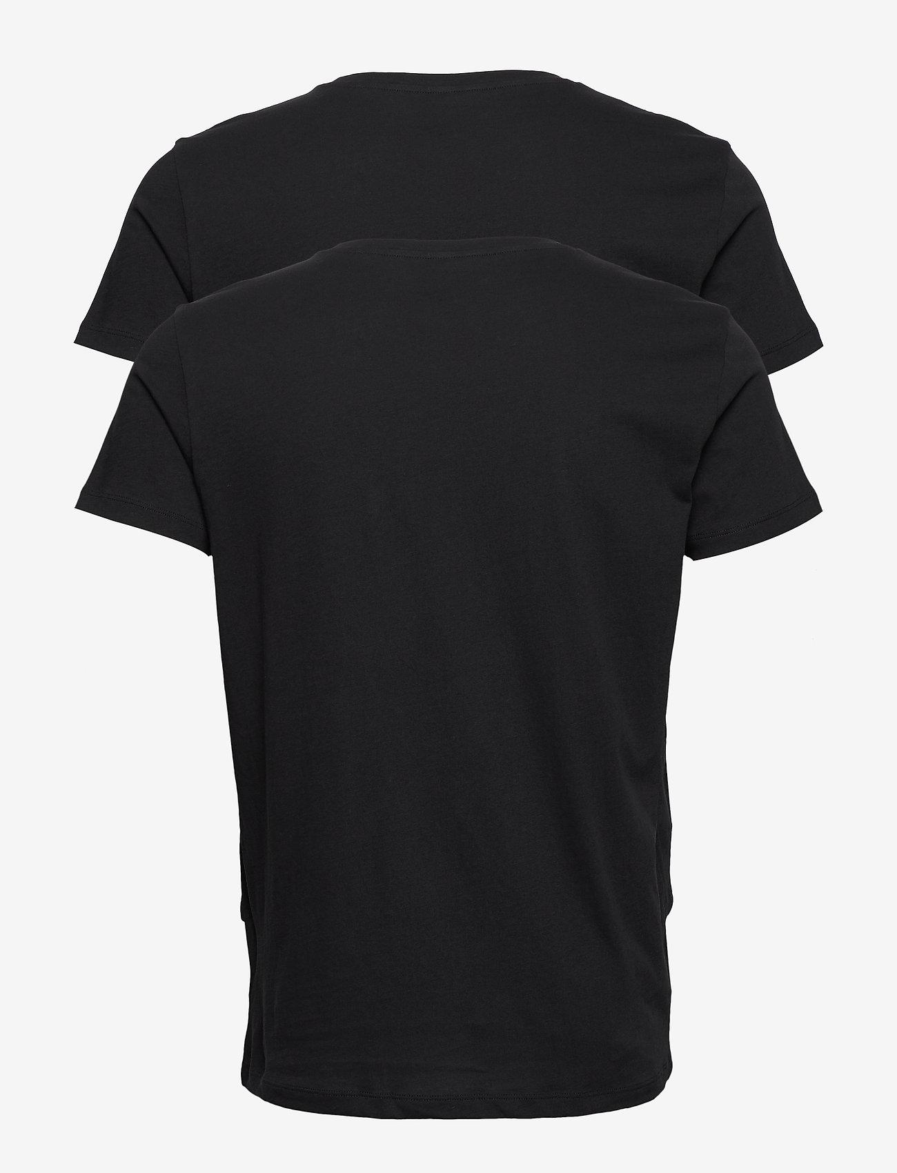 GANT BASIC 2-PACK CREW NECK T-SHIRT - T-skjorter BLACK - Menn Klær