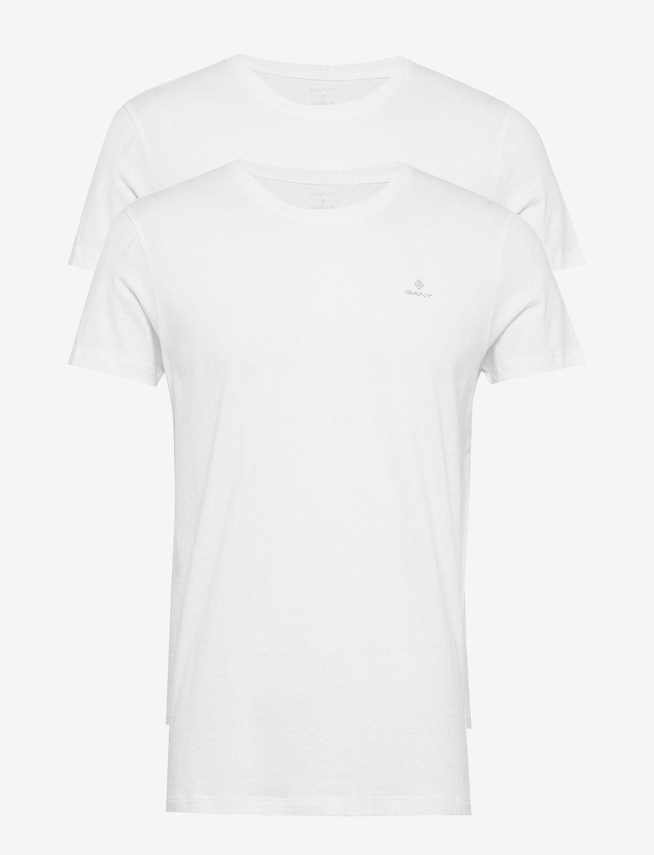 GANT - BASIC 2-PACK CREW NECK T-SHIRT - multipack - white - 0