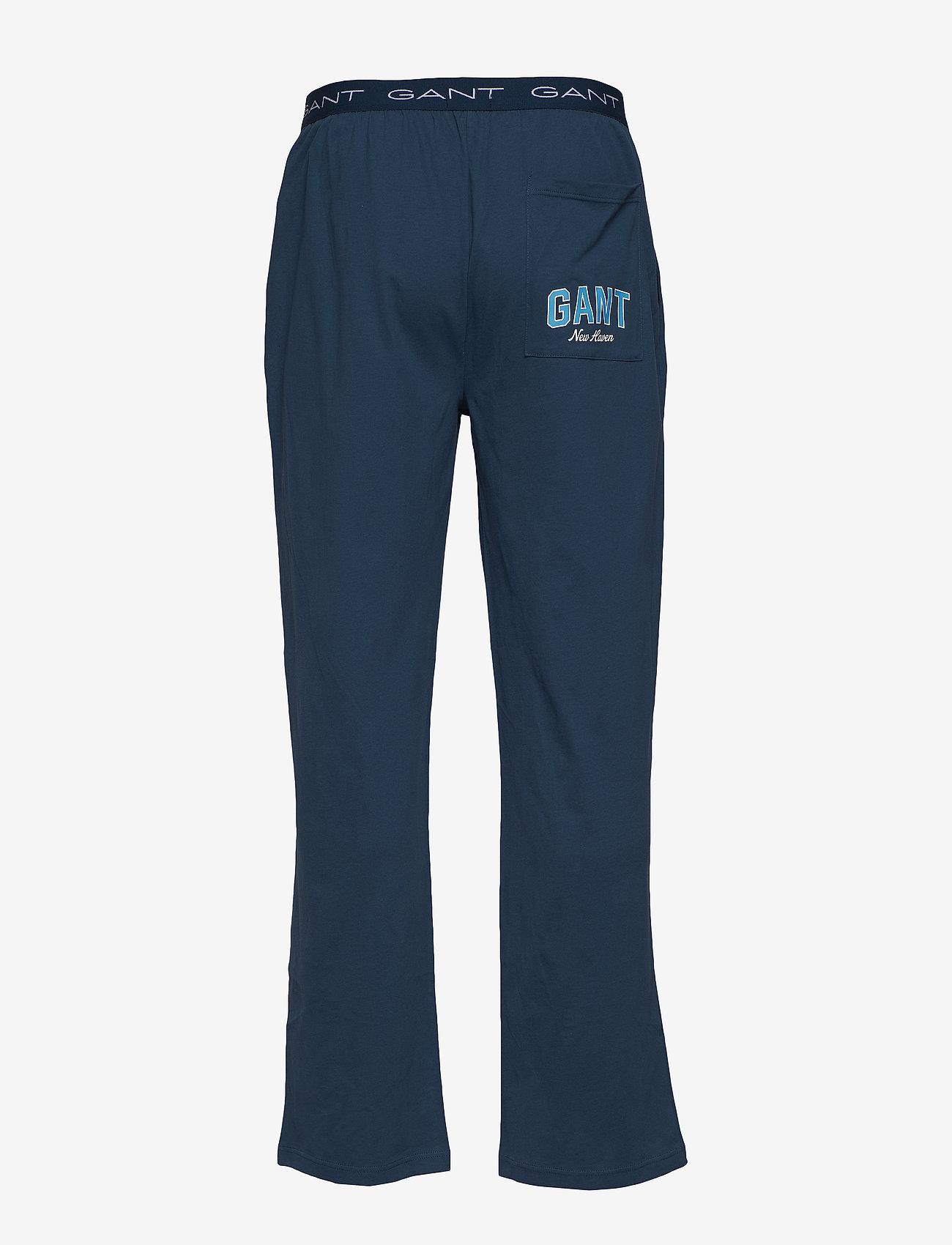 GANT - PAJAMA PANTS JERSEY - bottoms - insignia blue - 1